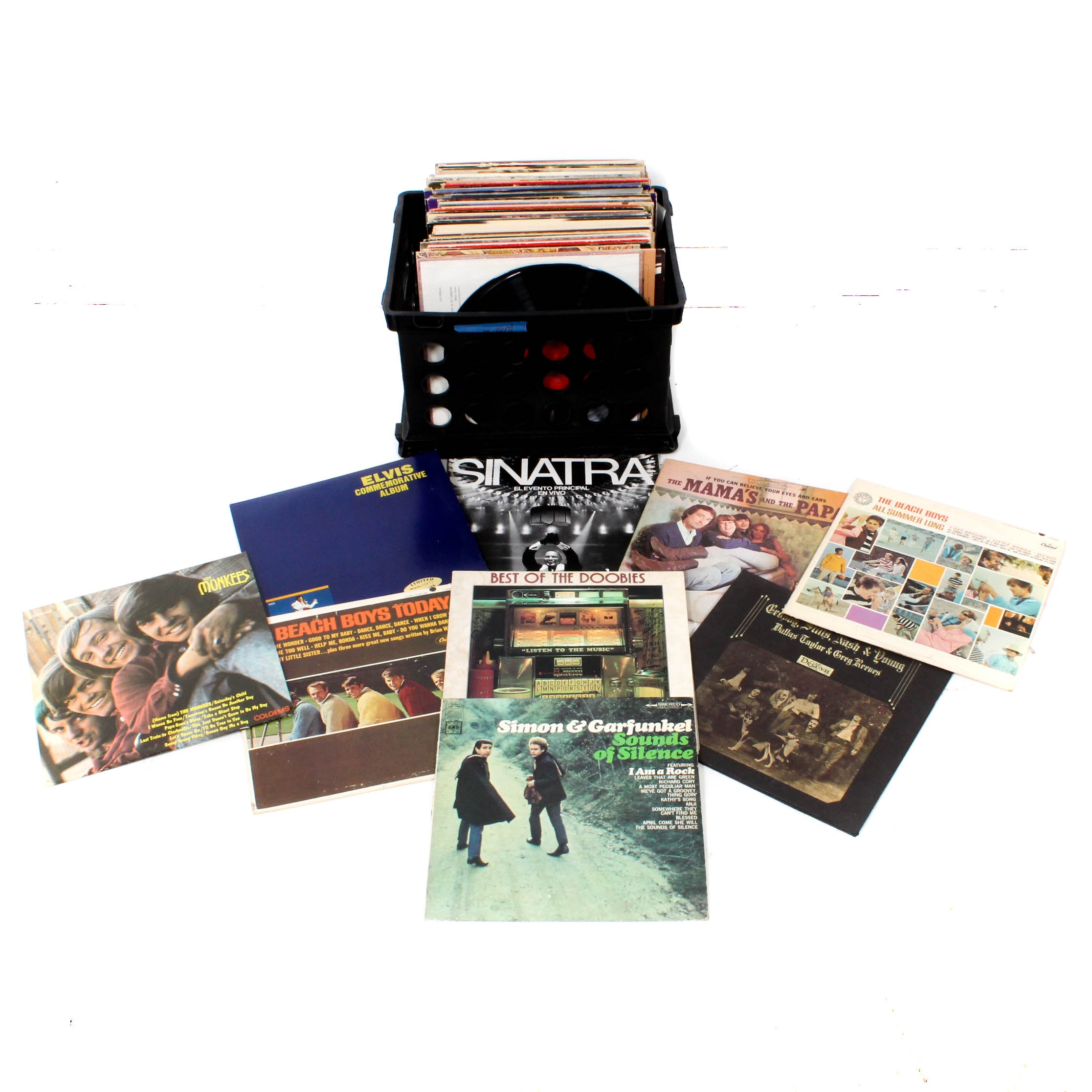 Vinyl Records Featuring Elvis, Sinatra, The Monkees and More