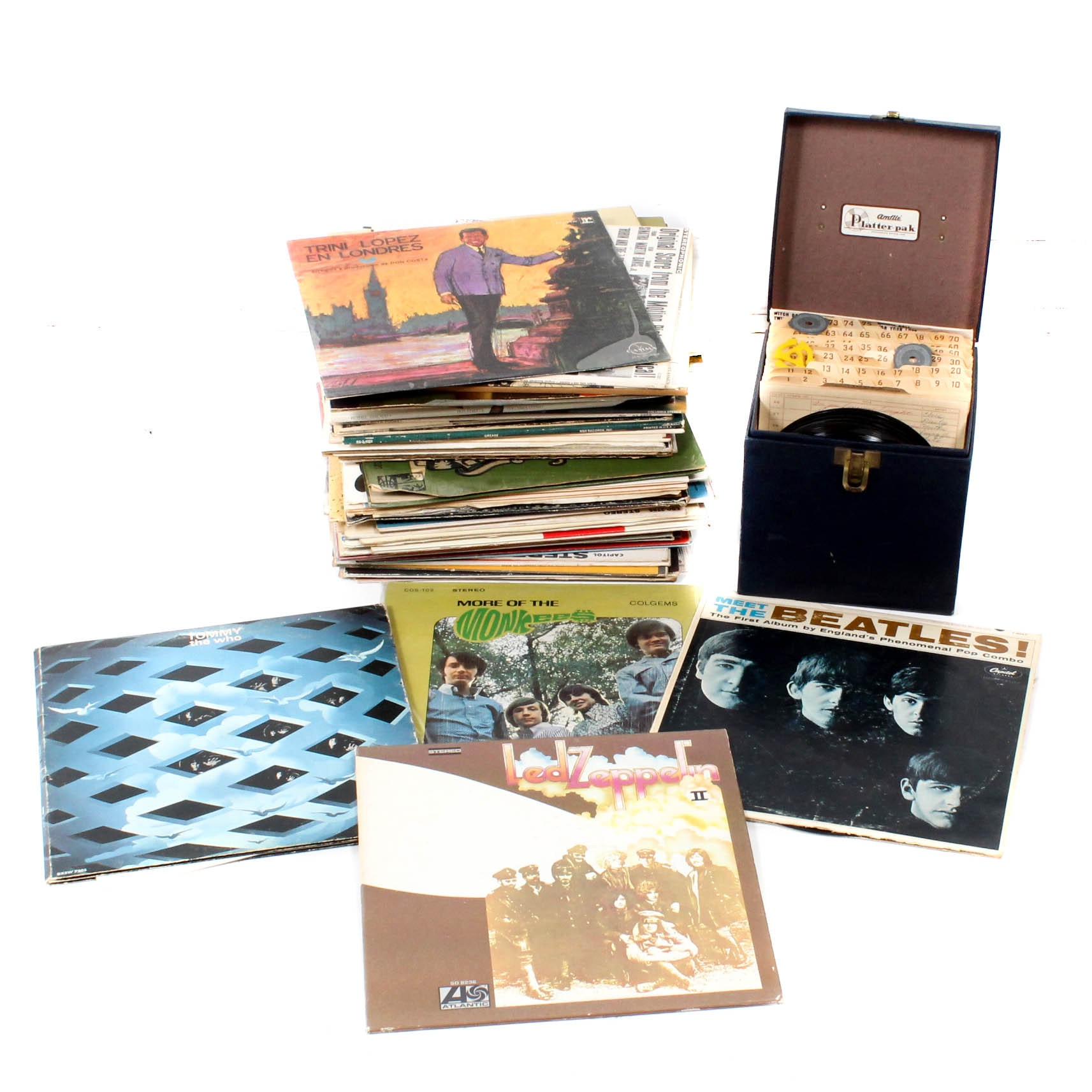 Vintage Vinyl Records Featuring The Who, Led Zeppelin, The Beatles and More