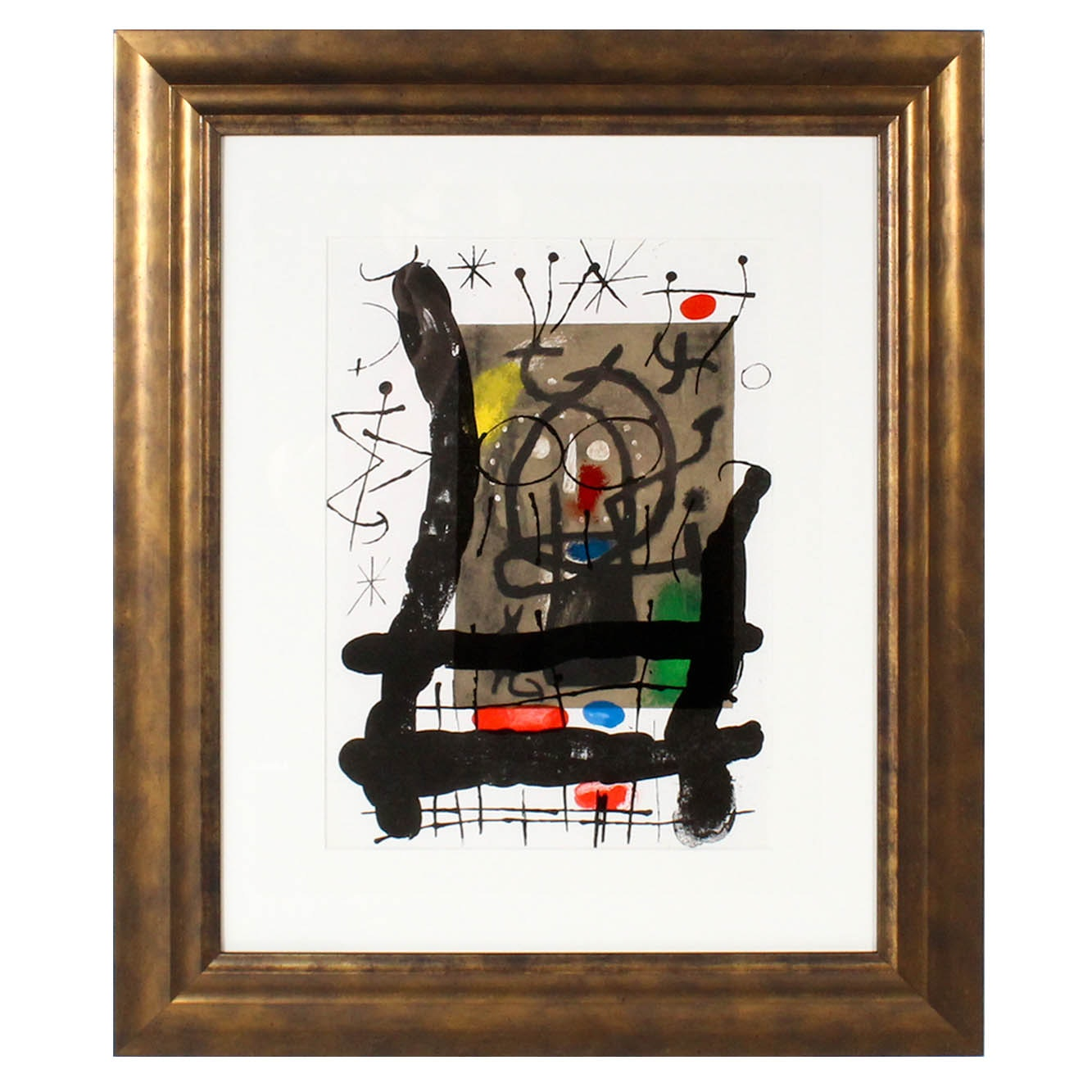 """Joan Miró Lithograph for 1965 """"Derrière le Miroir, No. 151-152"""""""