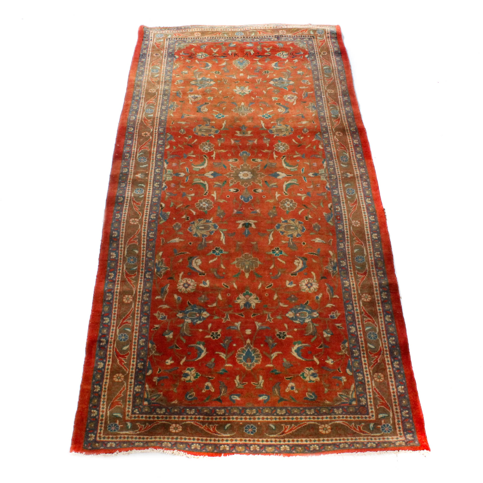 Vintage Hand-Knotted Persian Sarouk Rug