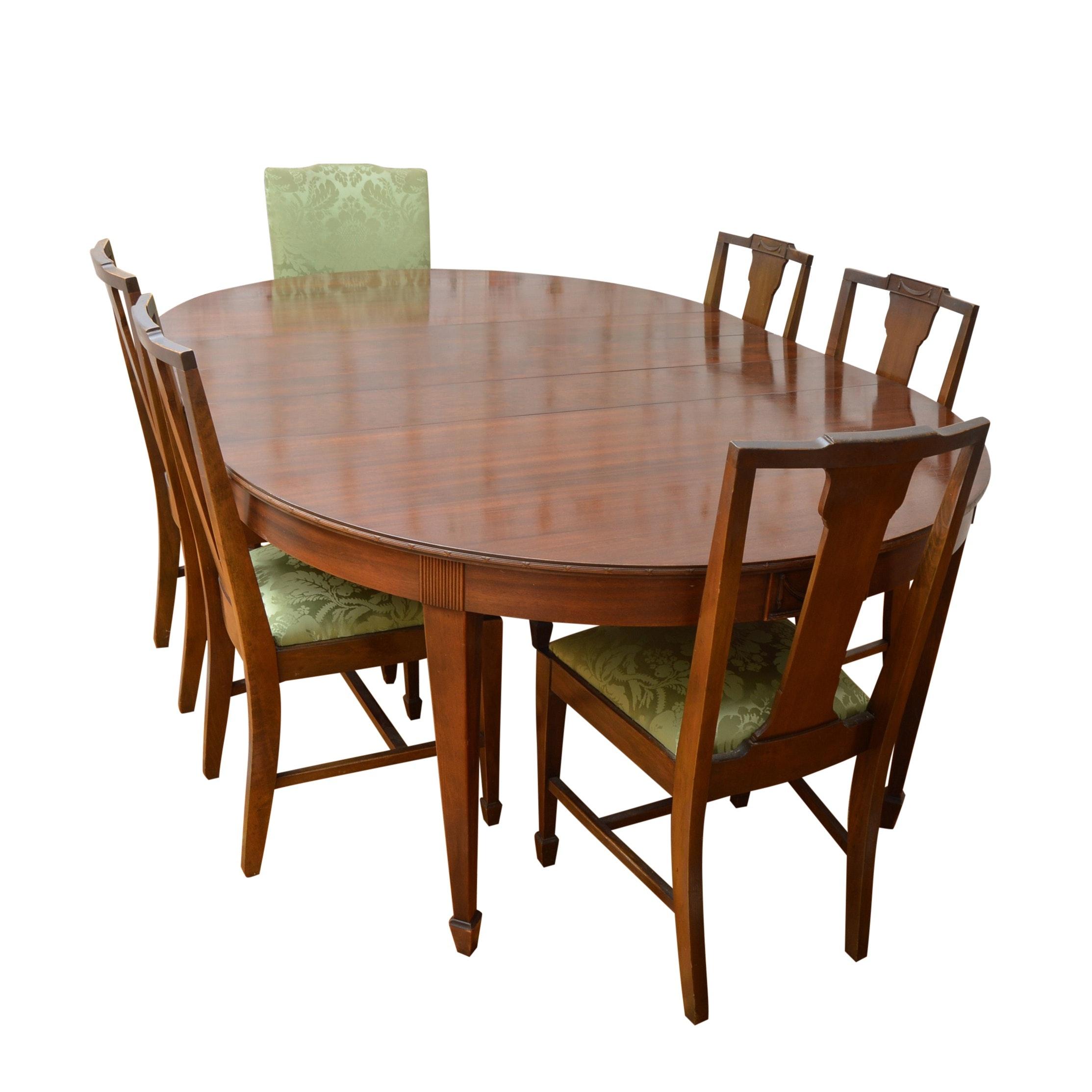1920s Neoclassic Style Mahogany Dining Set