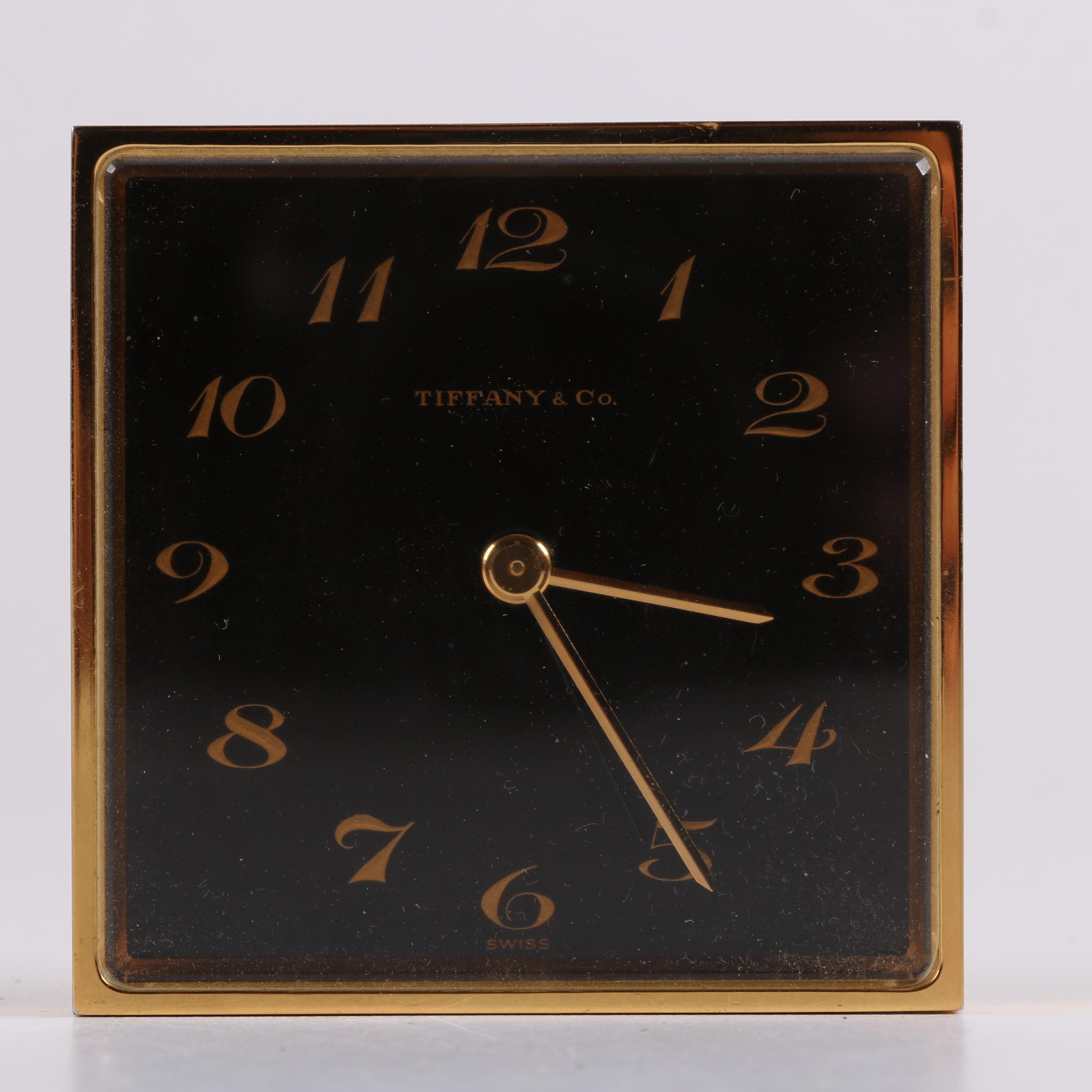 Vintage Tiffany & Co. Brass Alarm Clock
