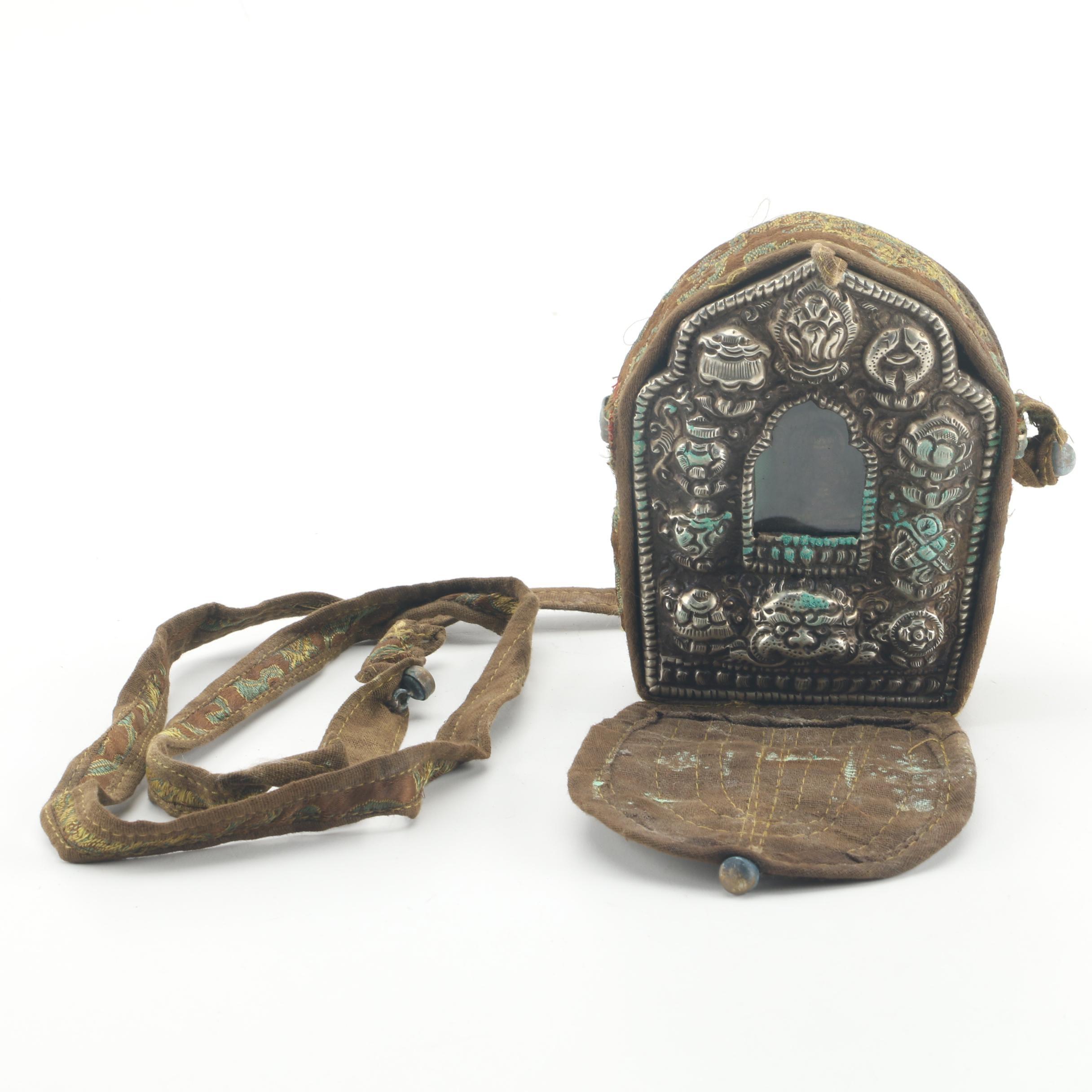 Tibetan Gau Portable Shrine with Cloth Case