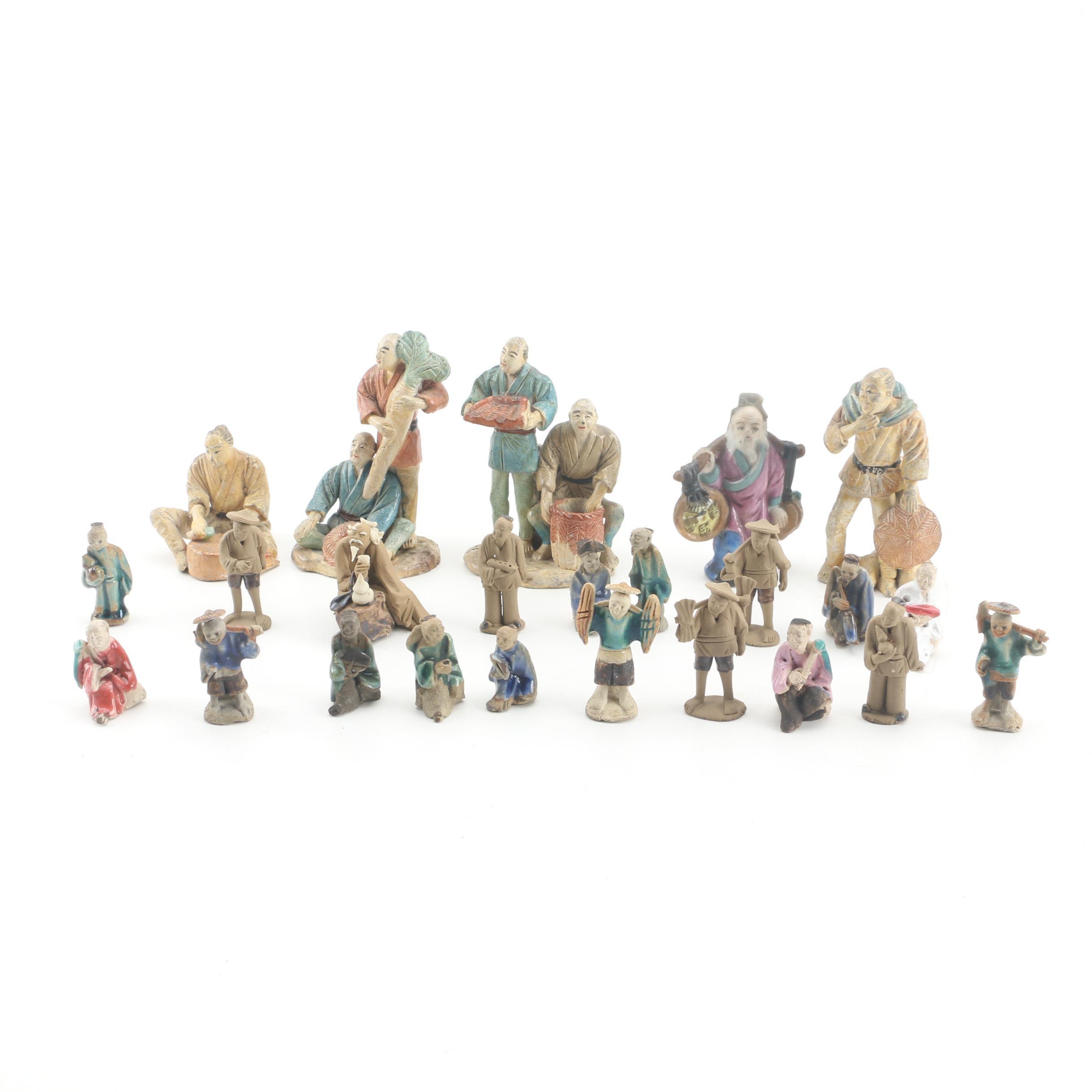 Chinese Miniature Shiwan Ware Figurines