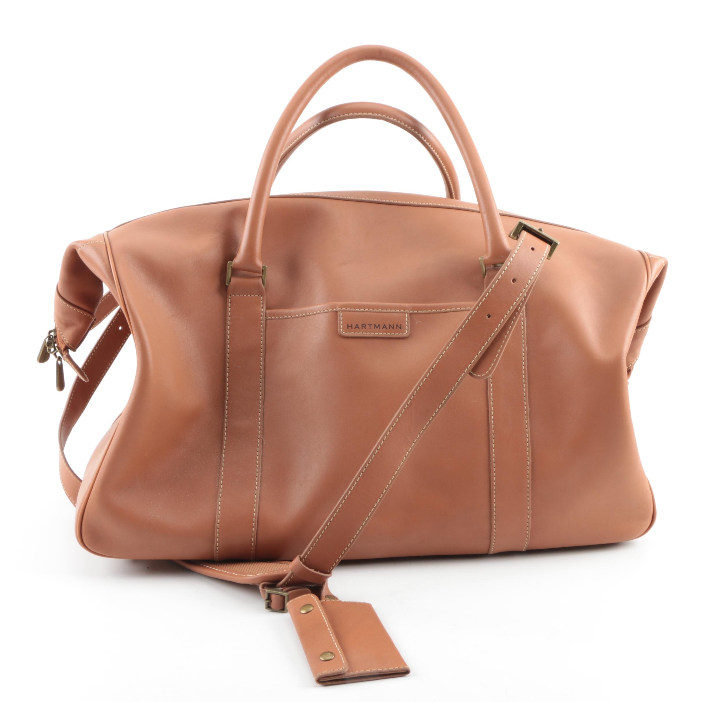 Hartmann Reserve Collection Valise Tan Leather Carry-On Bag