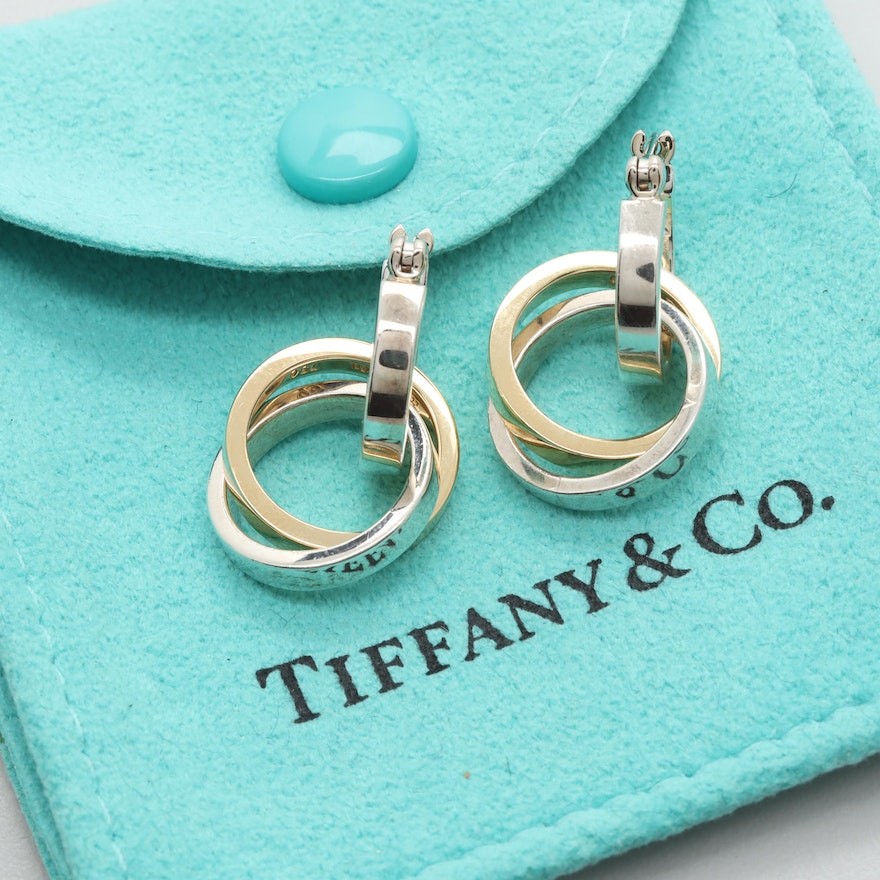 7545bb66e Paloma Picasso for Tiffany & Co. Sterling Silver Earrings With 18K Gold  Accents ...
