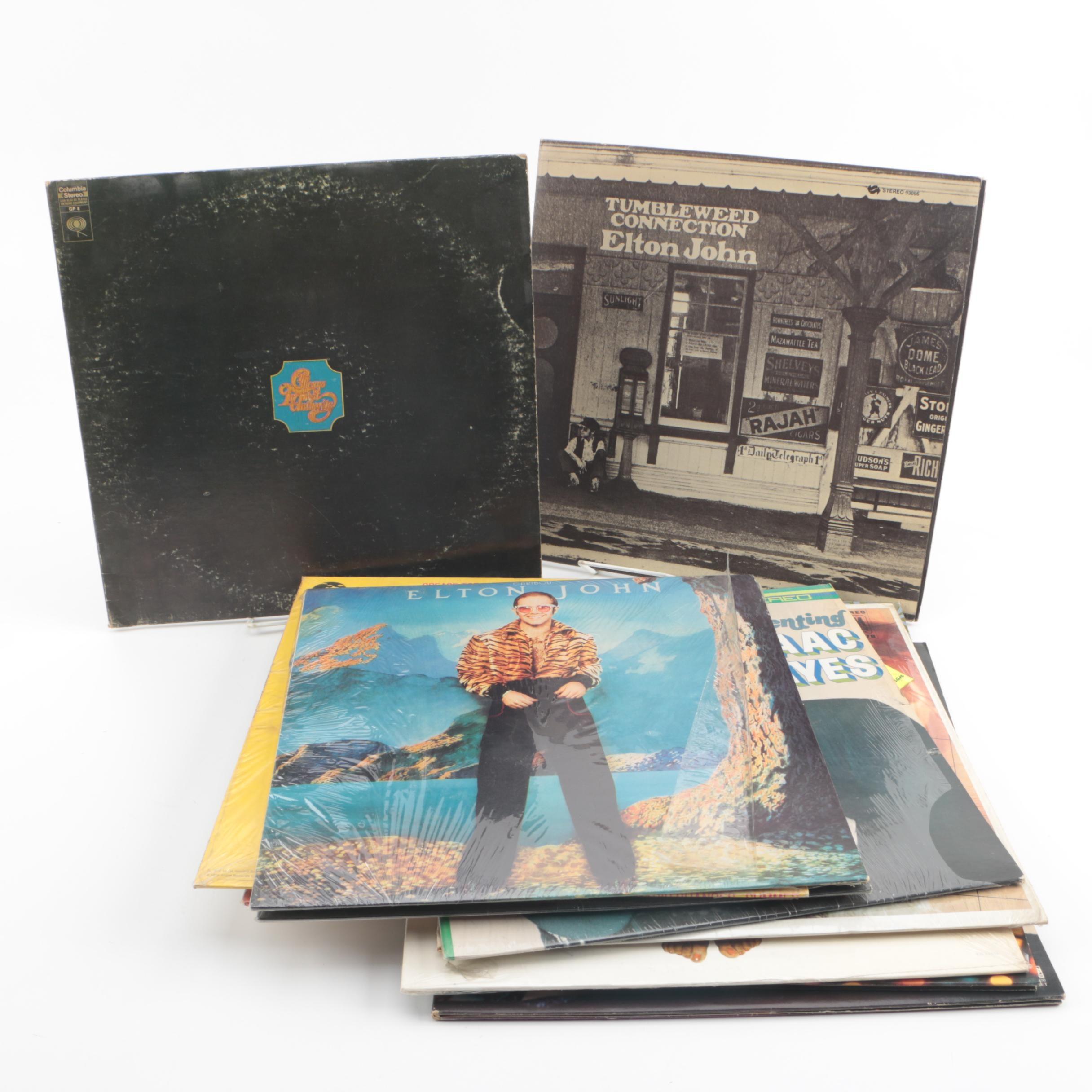 1970s Pop Records including Elton John, Bette Midler, and Chicago