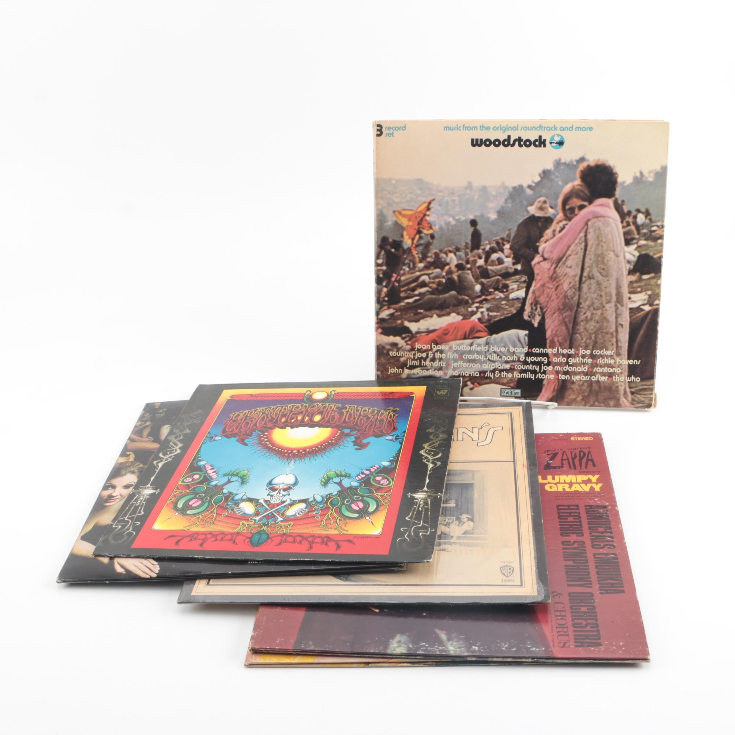 Vintage Classic Rock Records including Woodstock Soundtrack and Grateful Dead