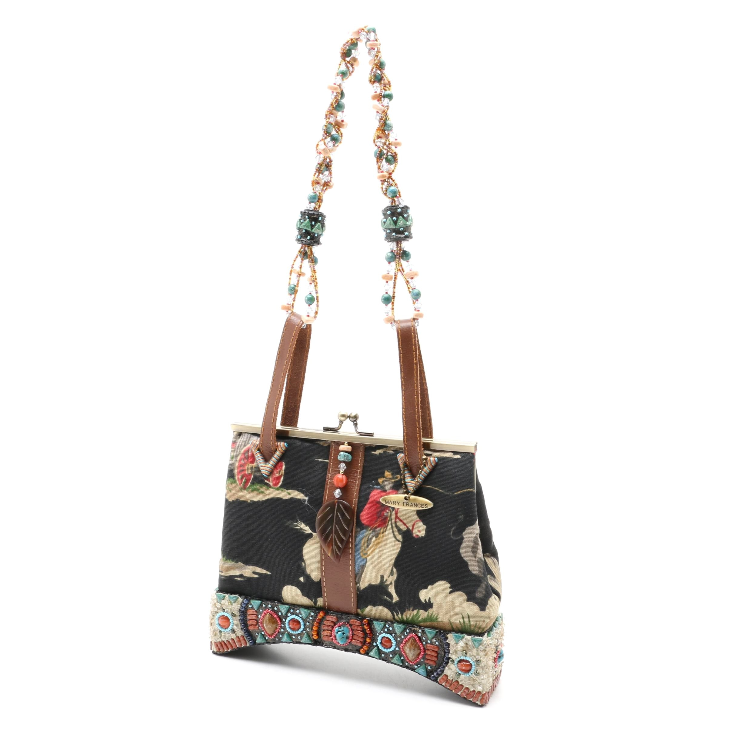 Mary Frances of San Francisco Cowboy Themed Embellished Handbag
