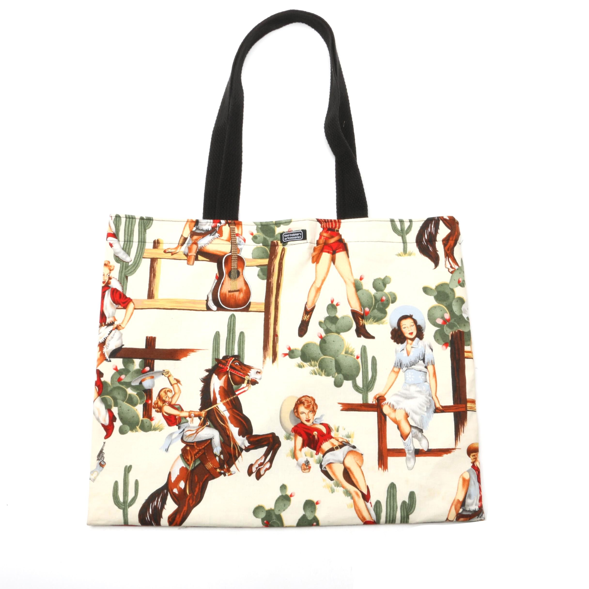 "Cowgirl Tote Bag from Tina Bobker's ""Artcessories"" Collection"
