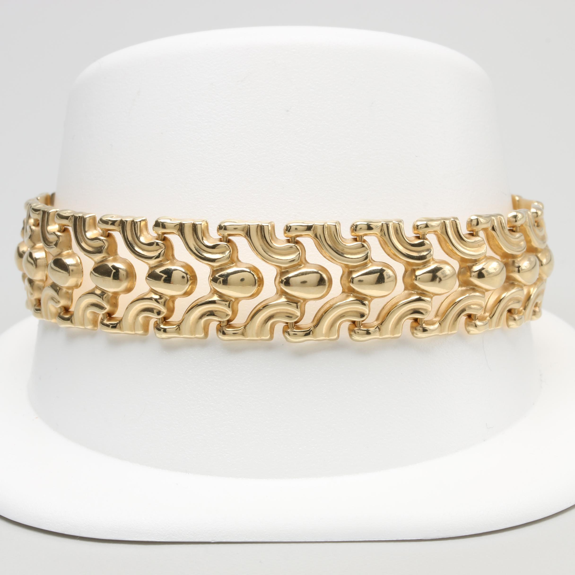 Milor 14K Yellow Gold Fancy Link Bracelet