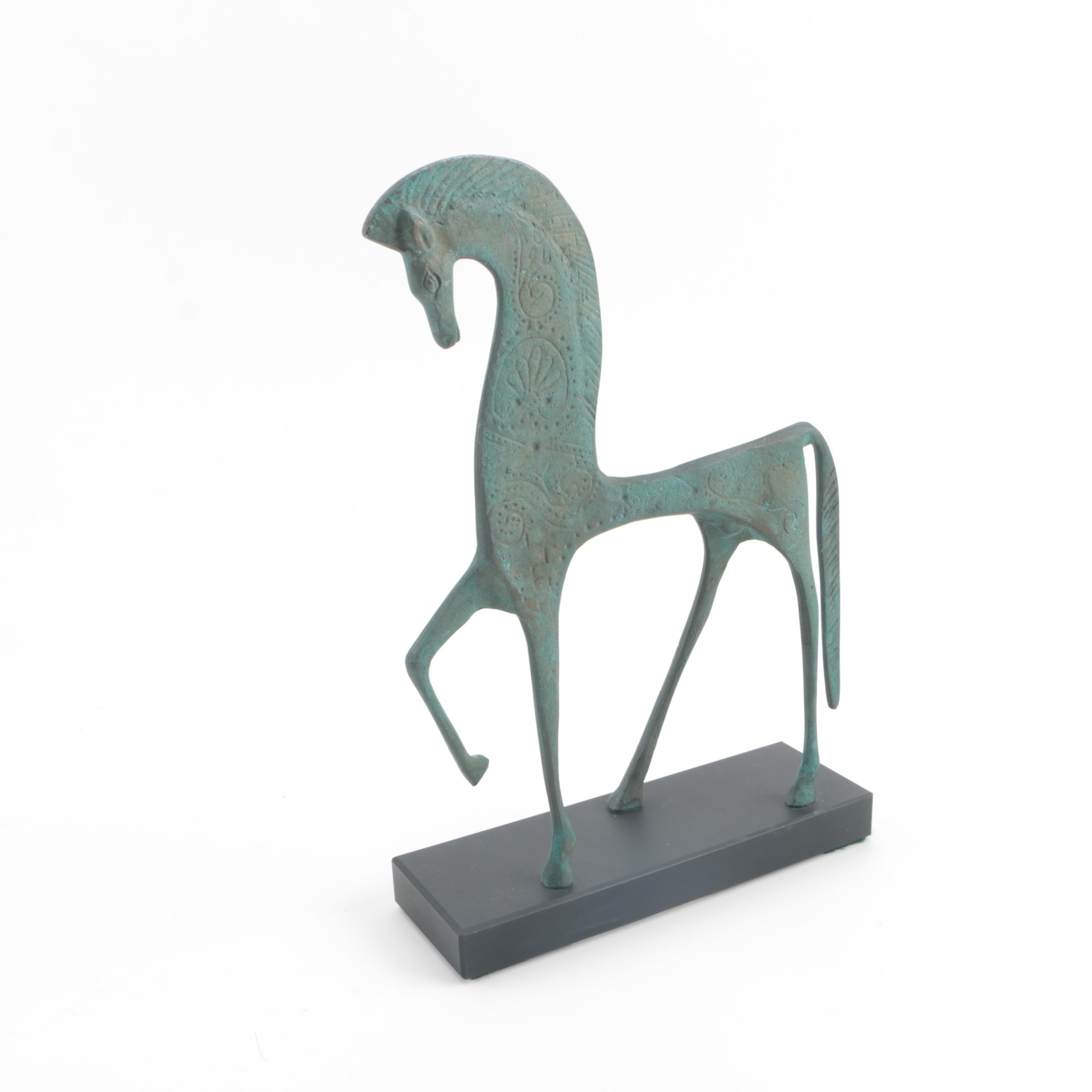 Smithsonian Institution Reproduction Etruscan Horse Sculpture