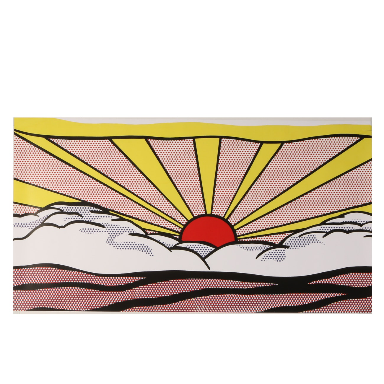 """Giclee on Paper After Roy Lichtenstein 1965 Oil Painting """"Sunrise"""""""