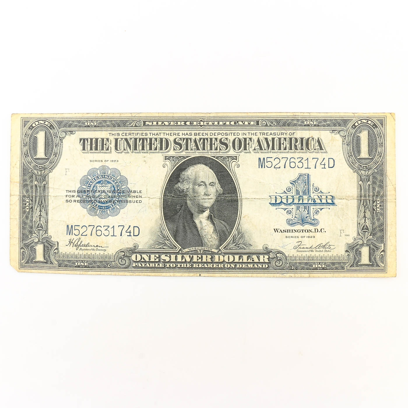 Series of 1923 Large Format $1 Silver Certificate