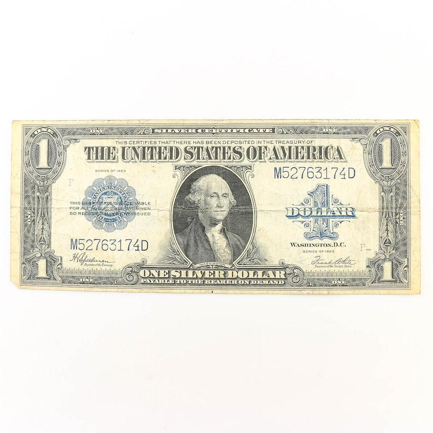 Series of 1923 Large Format $1 Silver Certificate : EBTH