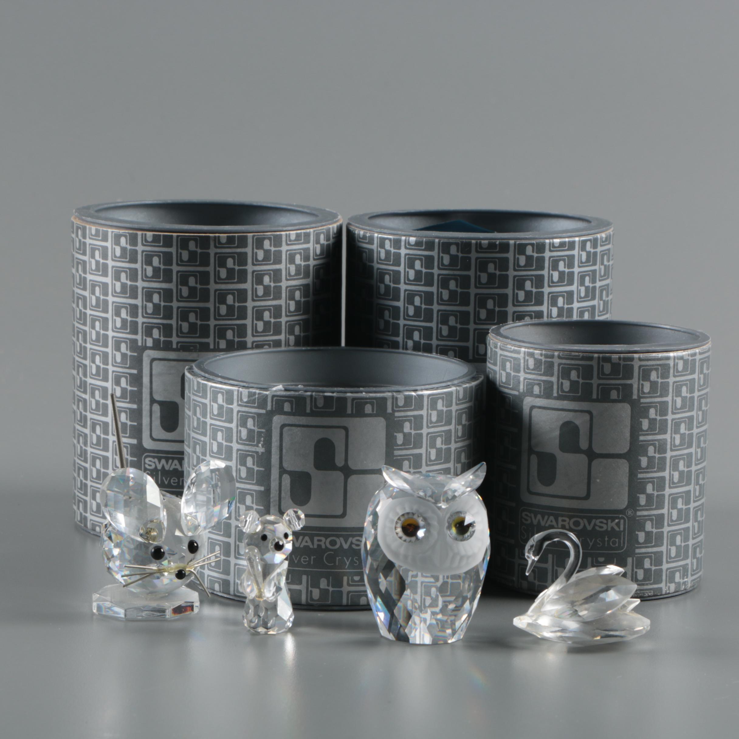 Vintage Swarovski and Crystal Caravan Faceted Figurines
