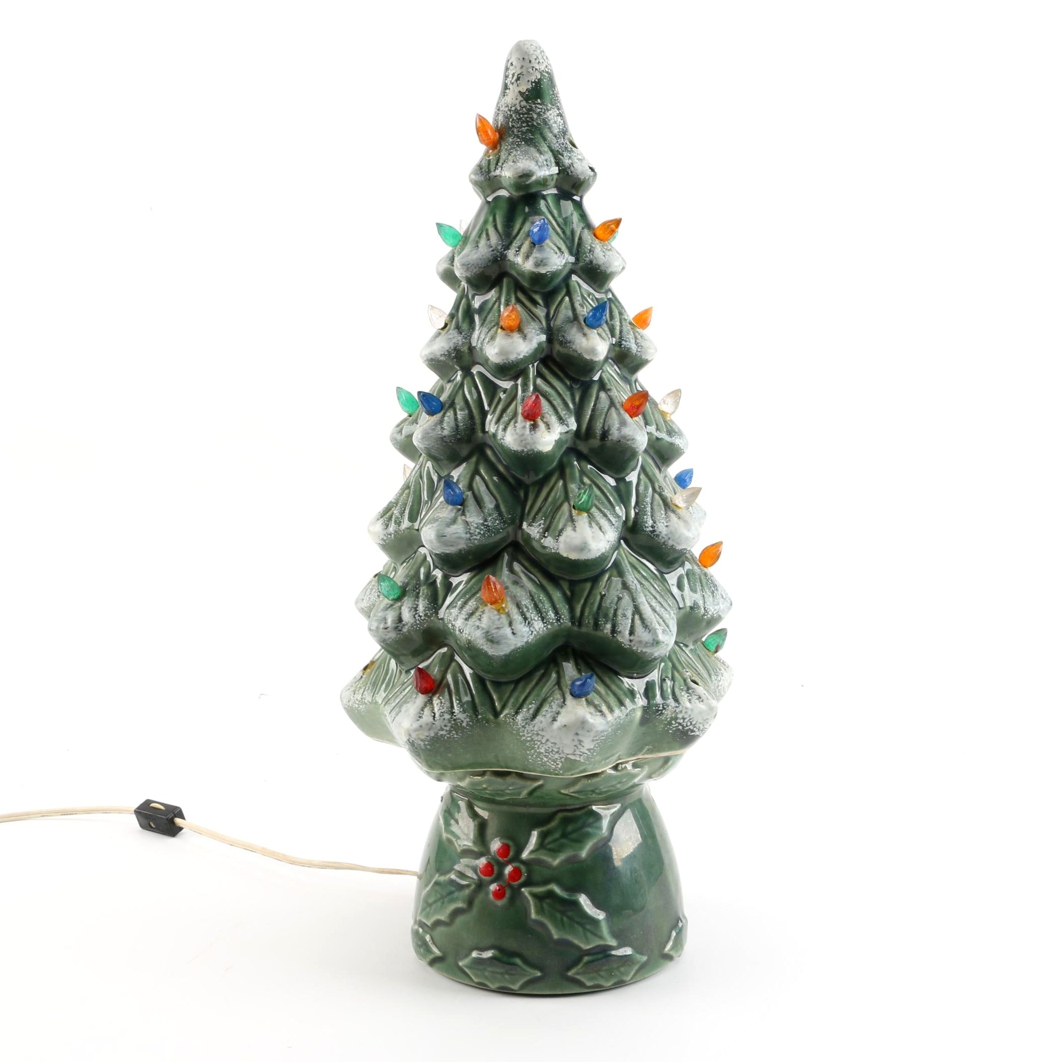 Vintage Ceramic Christmas Tree Lamp by Concepts
