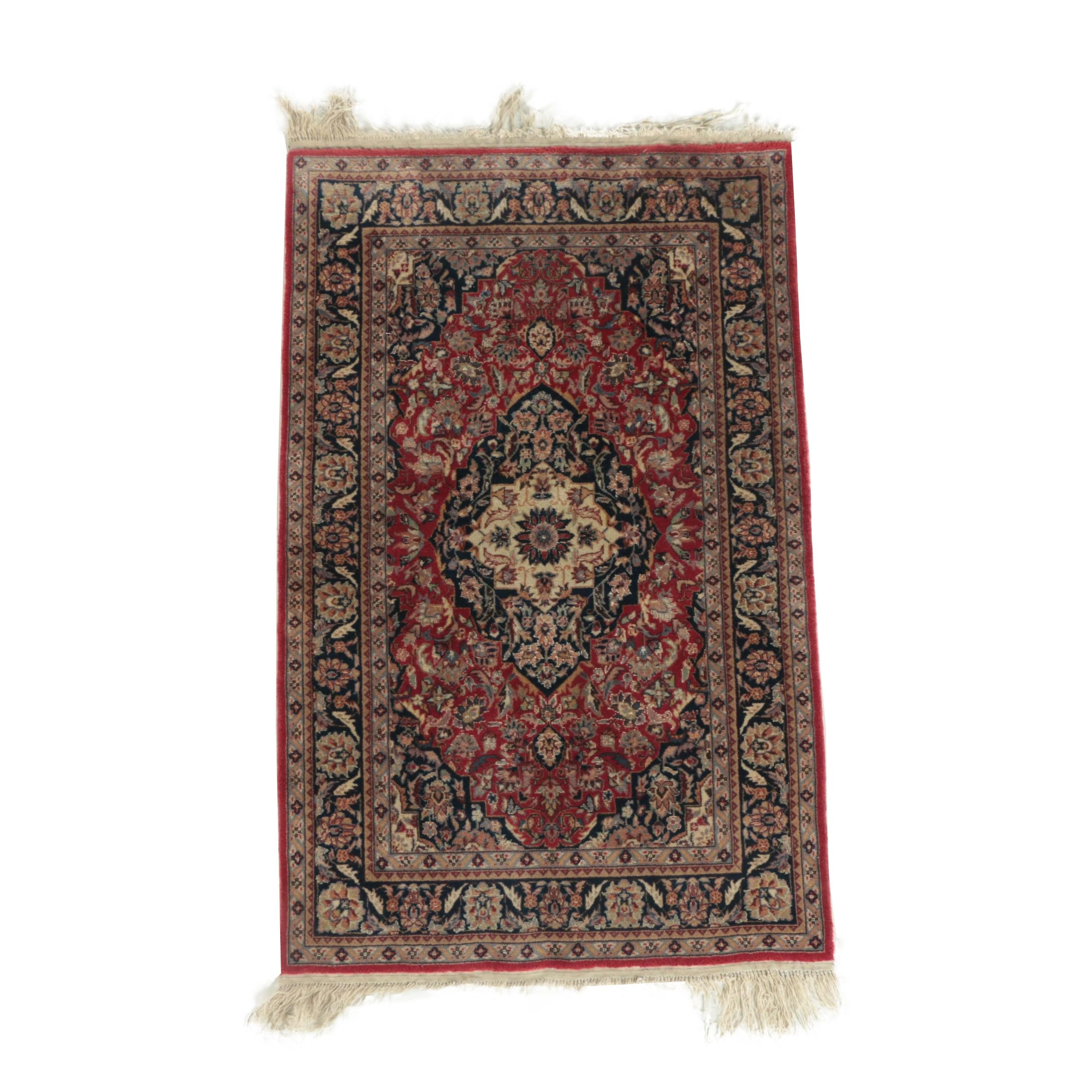 Hand-Knotted Indo-Persian Wool with Silk Accent Rug