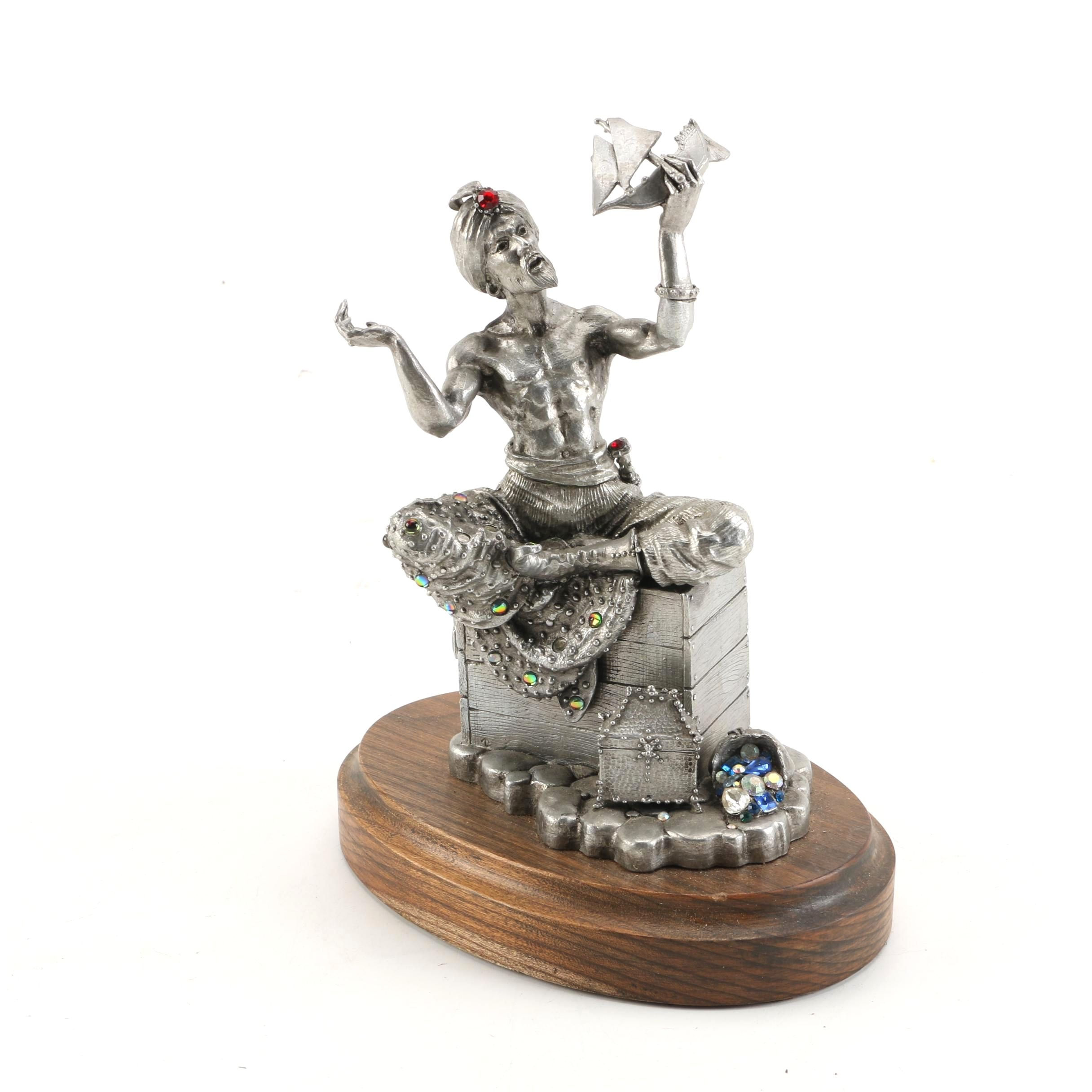 "James Lane Casey Pewter Sculpture ""Sinbad the Sailor"""