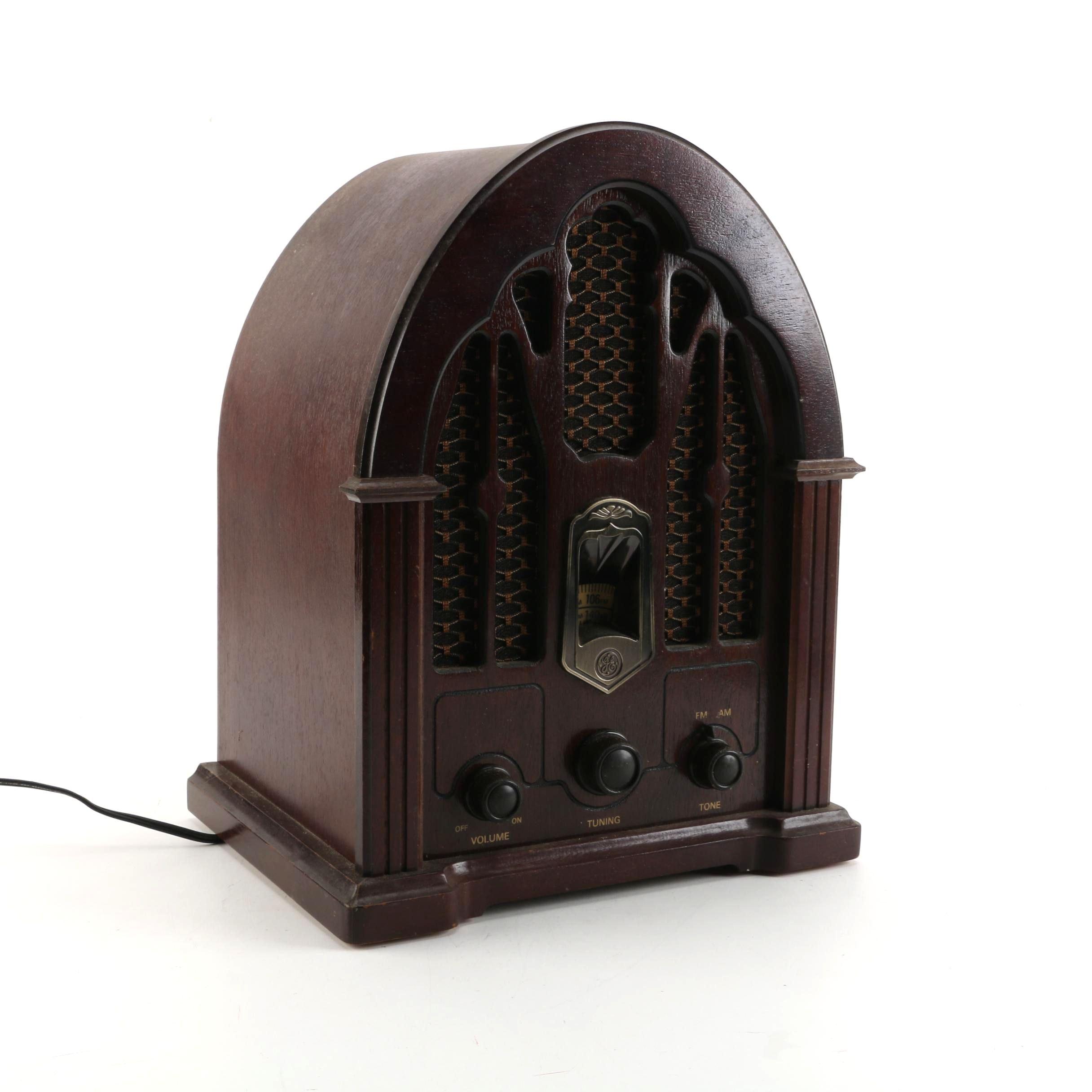 Vintage General Electric Replica Cathedral Radio