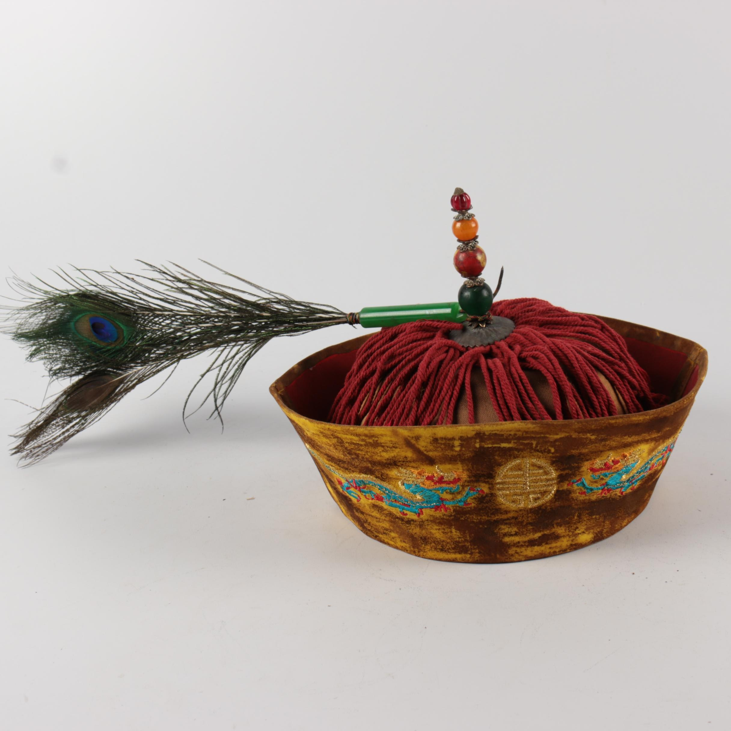 Late 20th Century Reproduction Chinese Qing Dynasty Official's Winter Hat