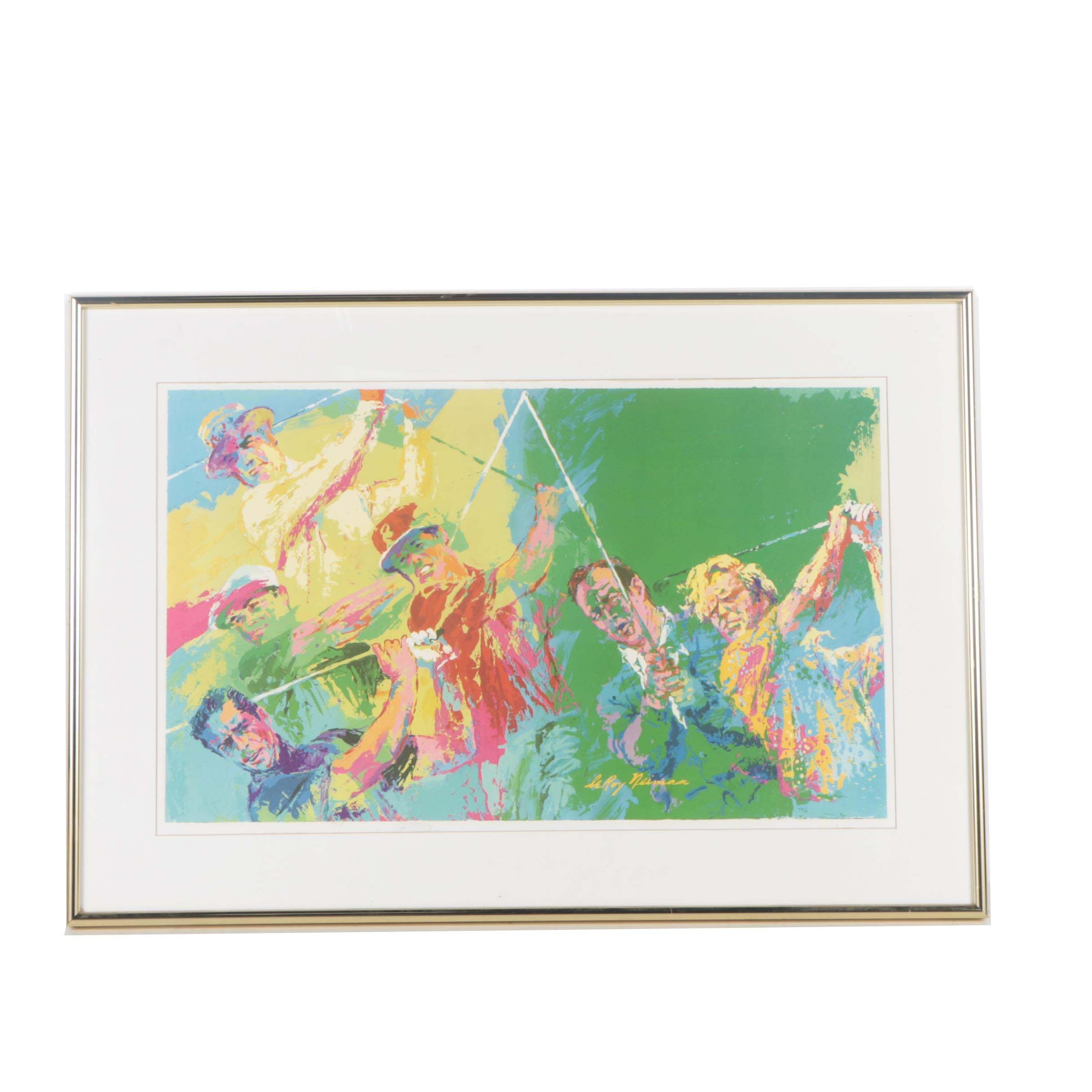 "Offset Lithograph after LeRoy Neiman ""Champions of Golf"""