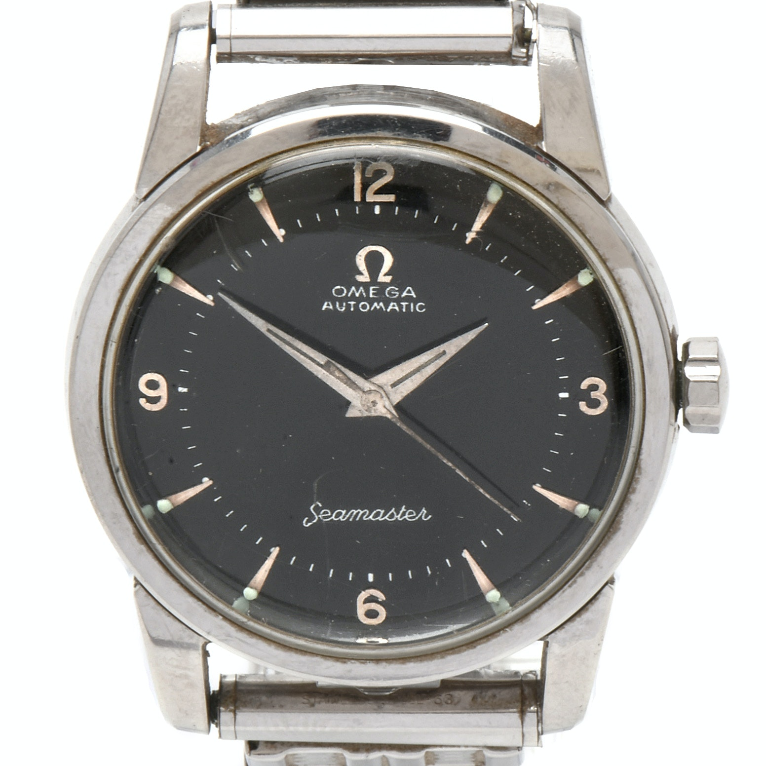 """Omega """"Automatic Seamaster""""  Stainless Steel Wristwatch, Circa 1955"""