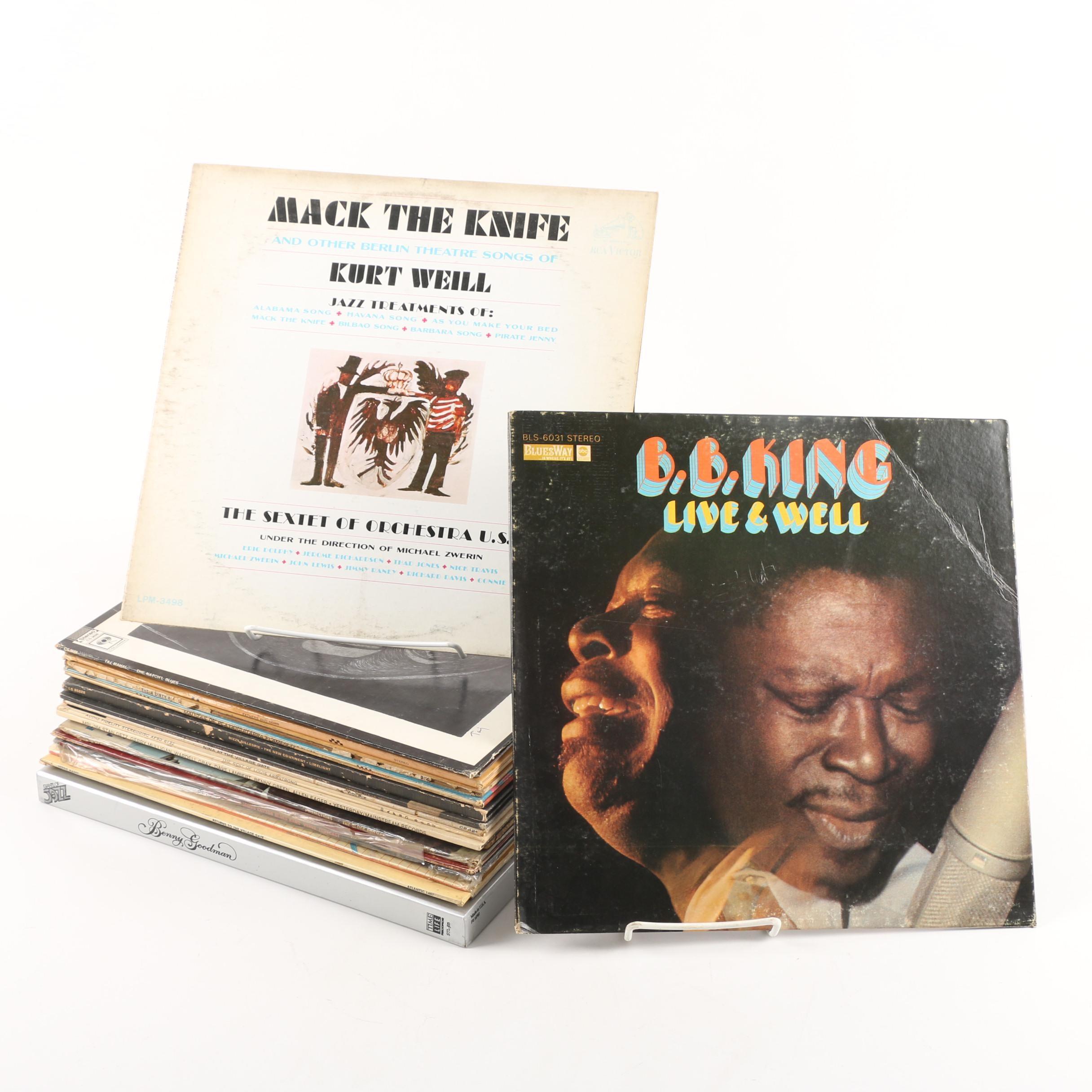 Vintage Jazz and Blues Records including Nina Simone and Art Blakey