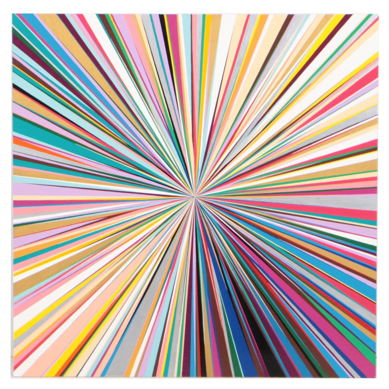 "Gibbs Rounsavall (b. 1975) ""All Is Right Here"" Enamel on Aluminum, 2008"