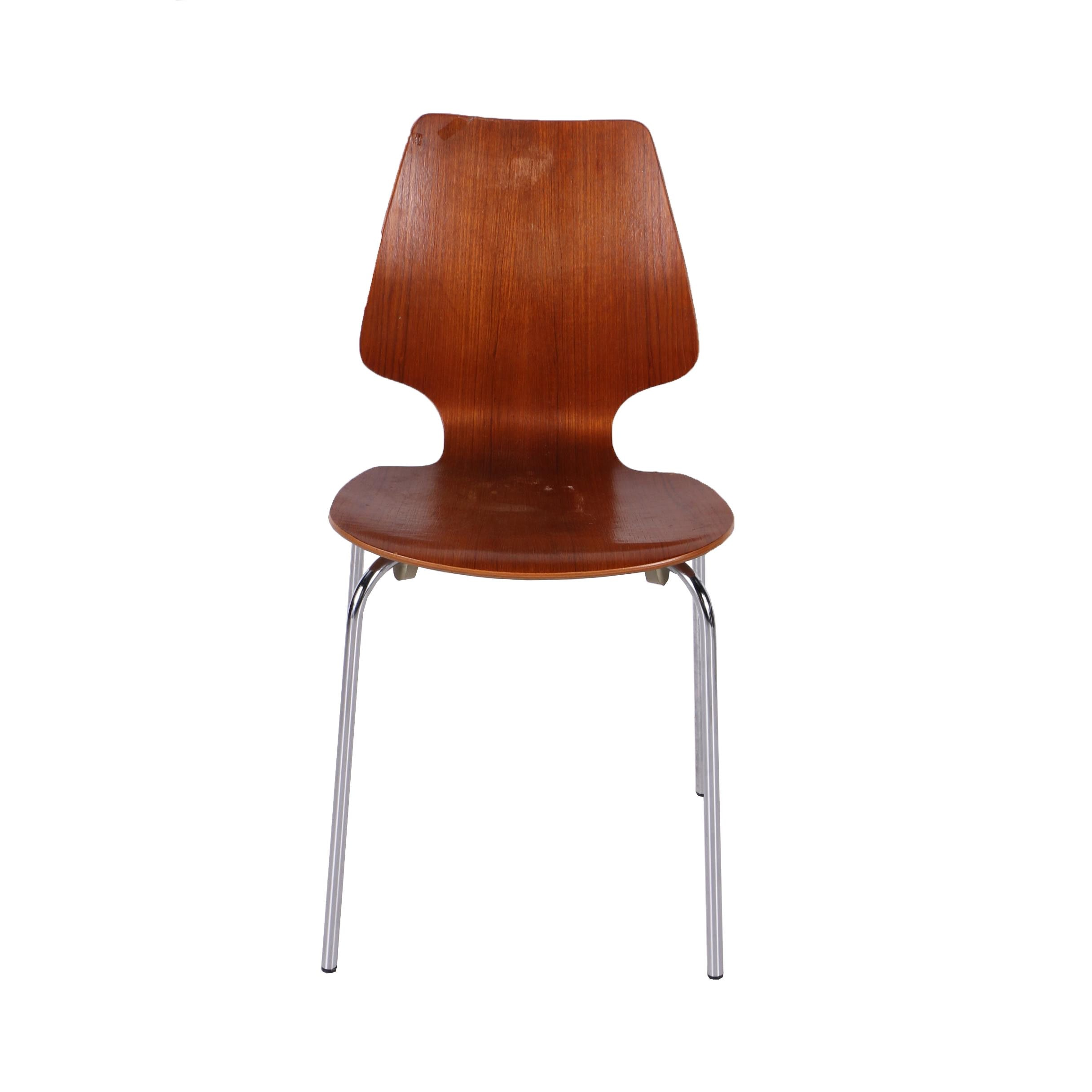 Danish Modern Teak Bentwood Chair