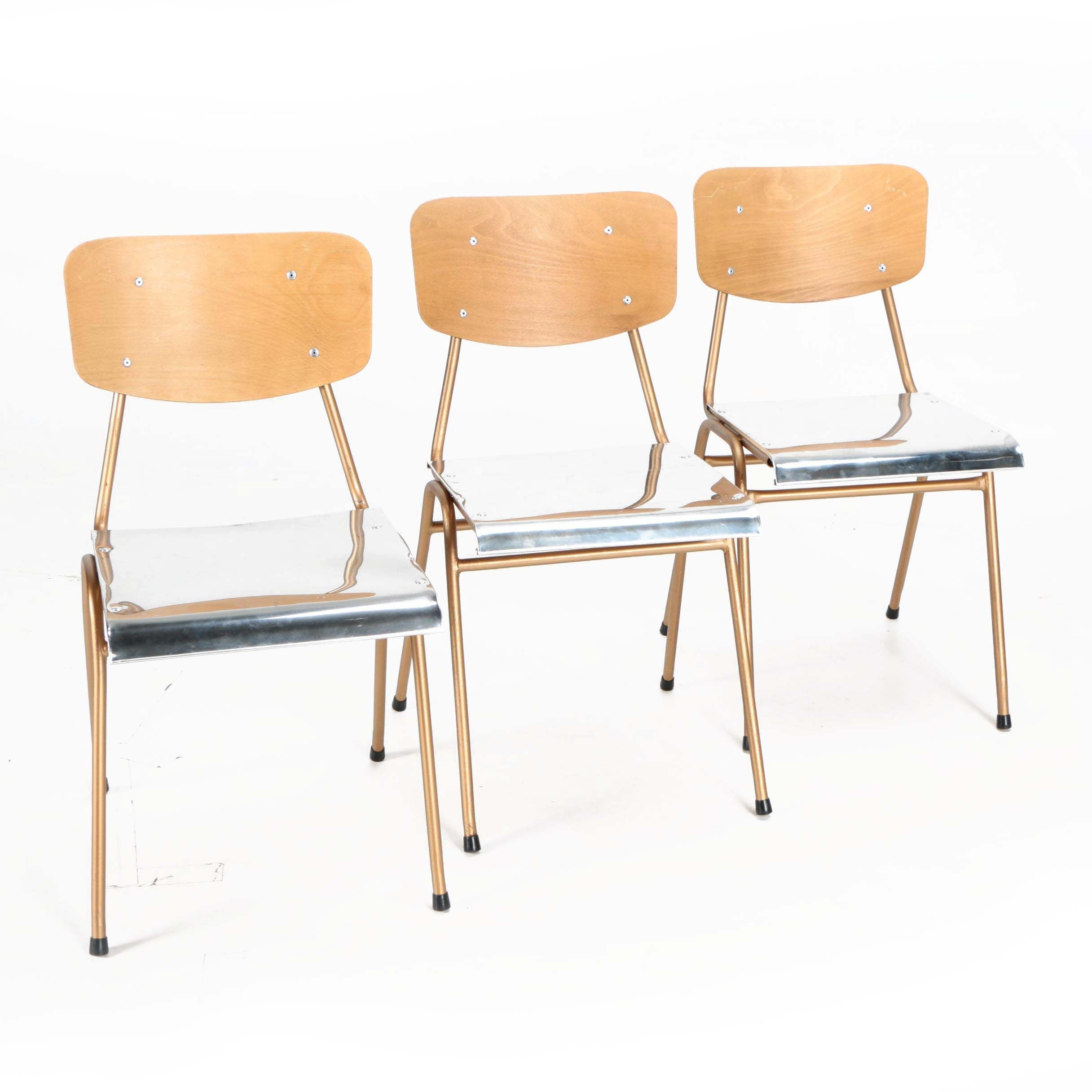 Mid Century Modern Style Stackable School Chairs