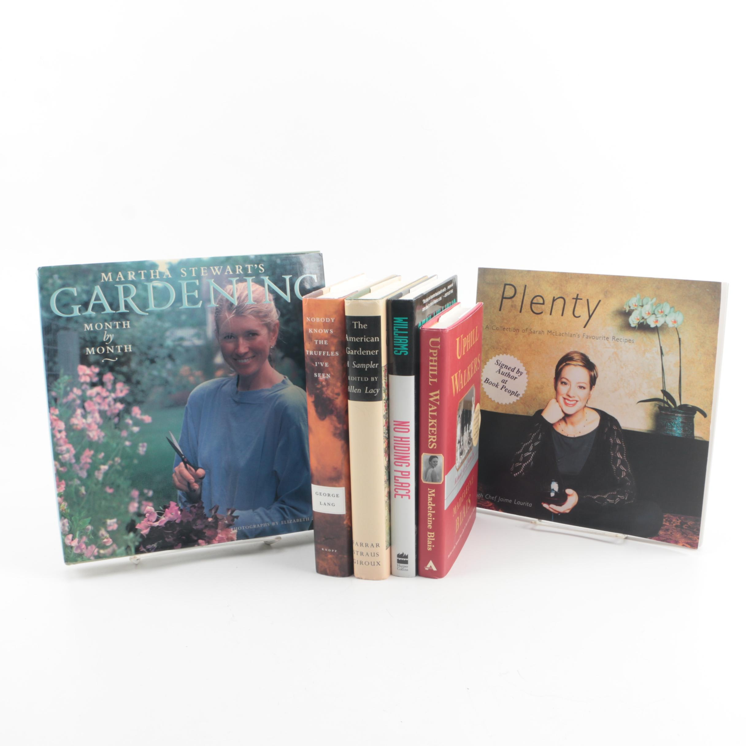 Signed Nonfiction and Gardening Books including Martha Stewart