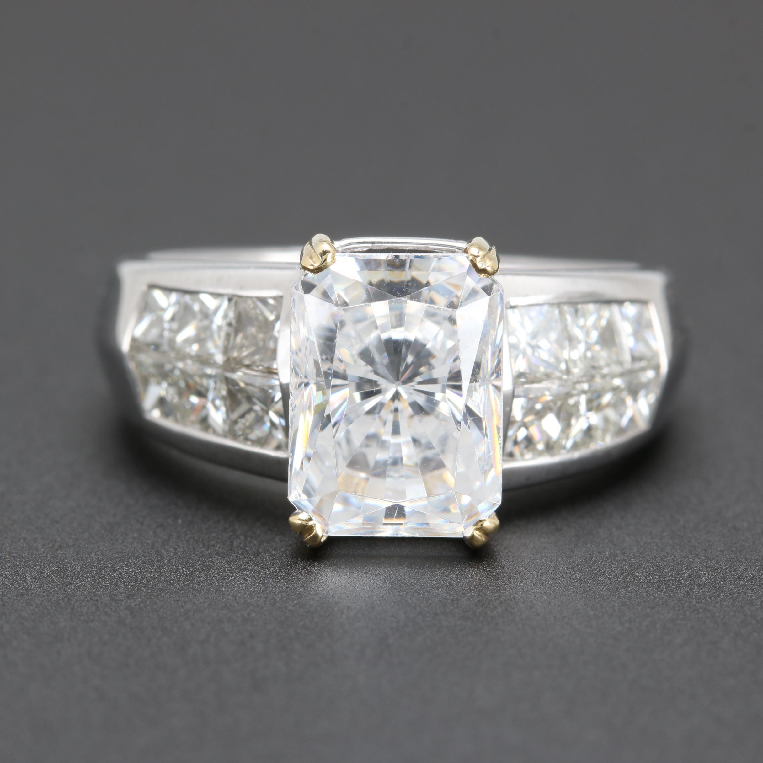 Platinum and 18K White Gold 1.25 CTW Diamond Semi Mount Ring