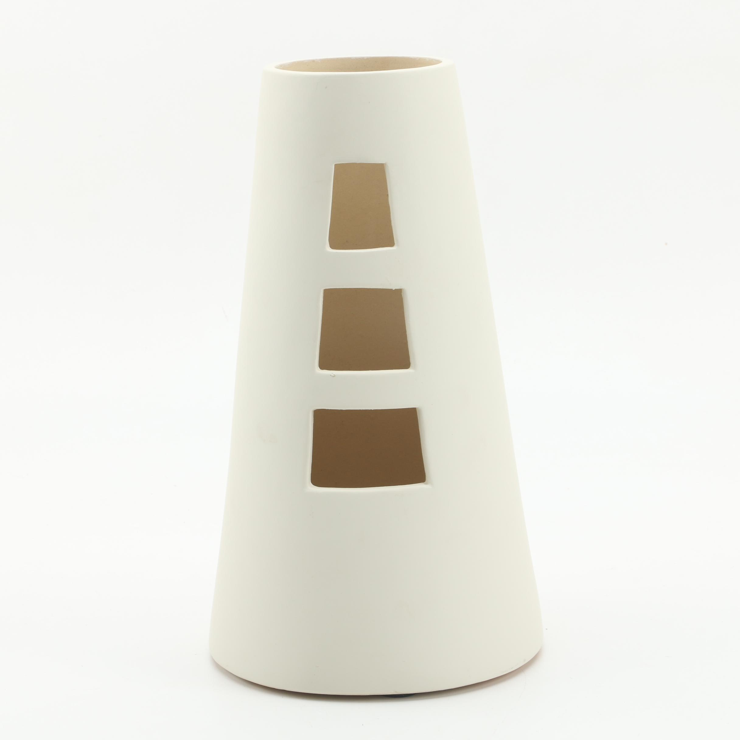 Chinese Modern Open Ceramic Vase from Global Views Inc.