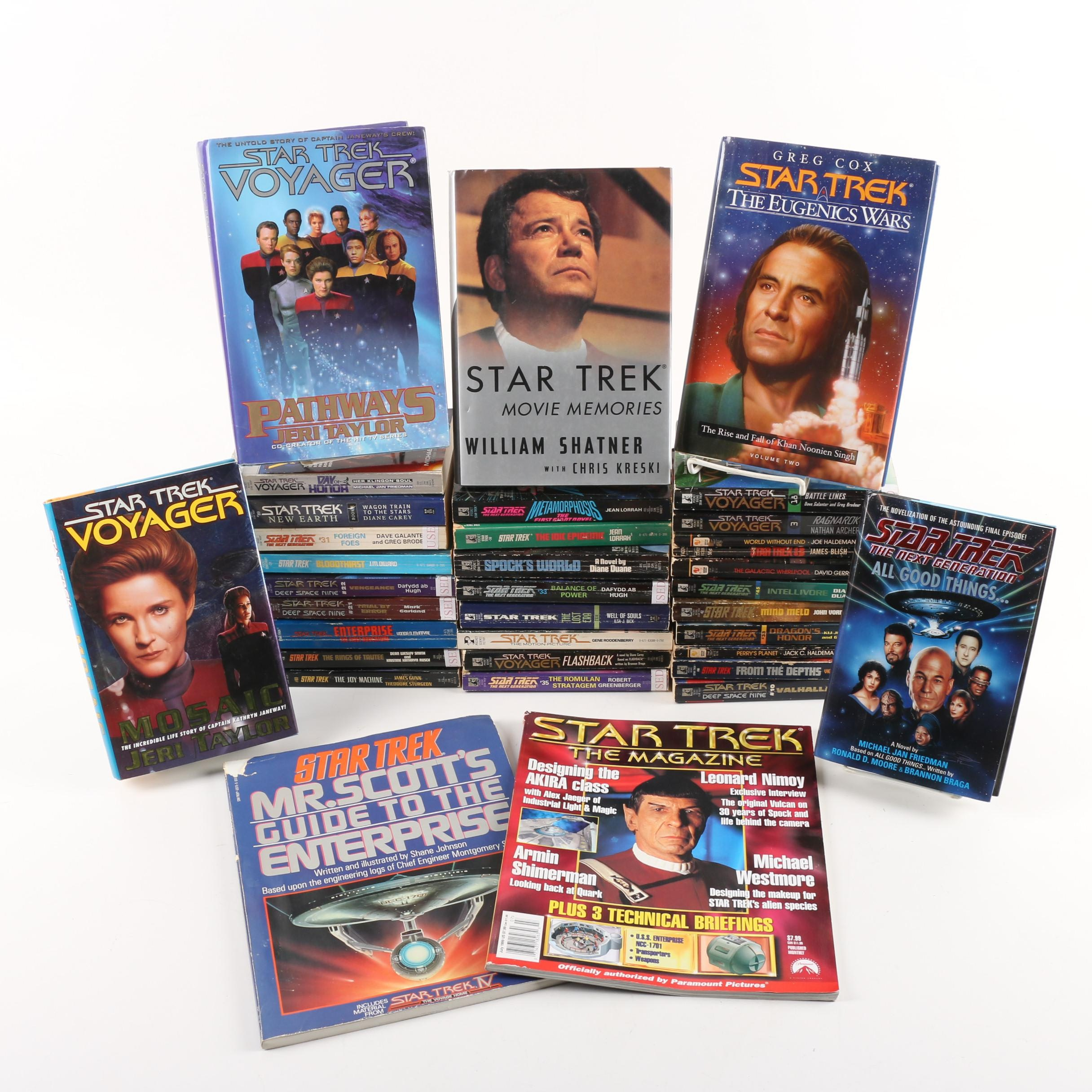 """Star Trek"" Books, Magazines, and Novelizations"
