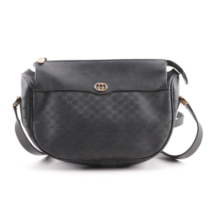 7761be4737db Gucci Black Supreme GG Canvas Crossbody Bag