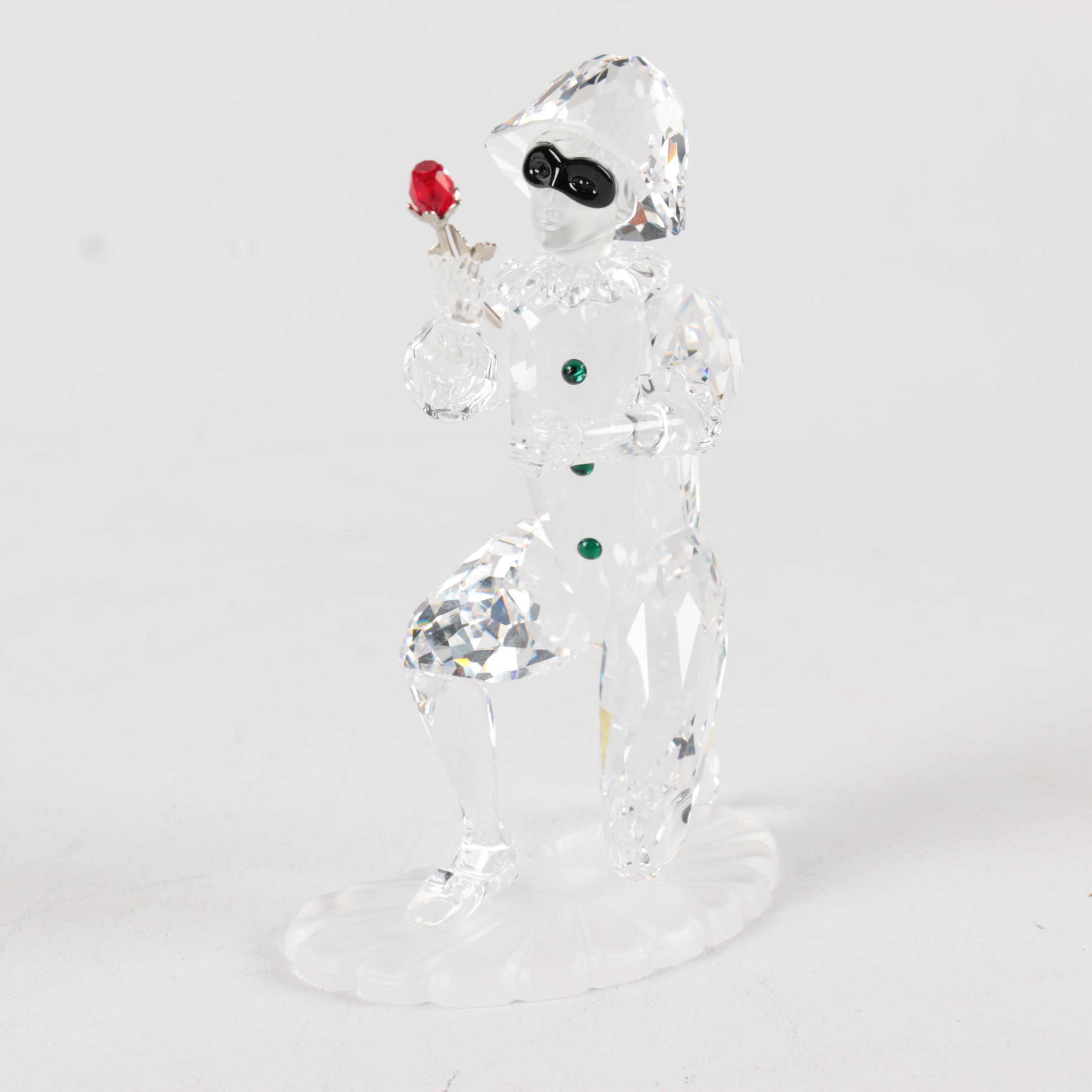 "Swarovski Crystal Masquerade ""Harlequin"" Figurine"