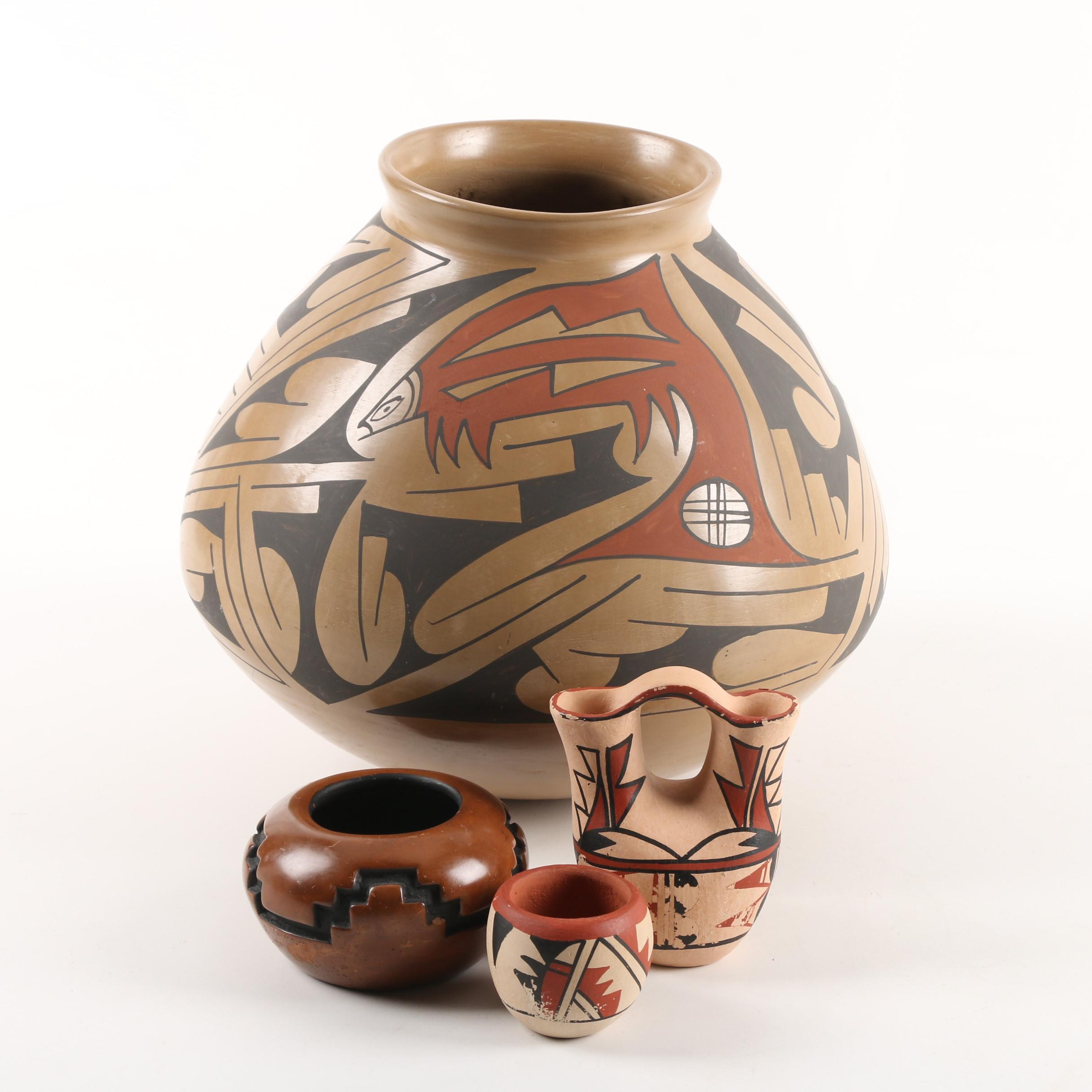 Mexican, Pueblo and Southwestern Style Vases