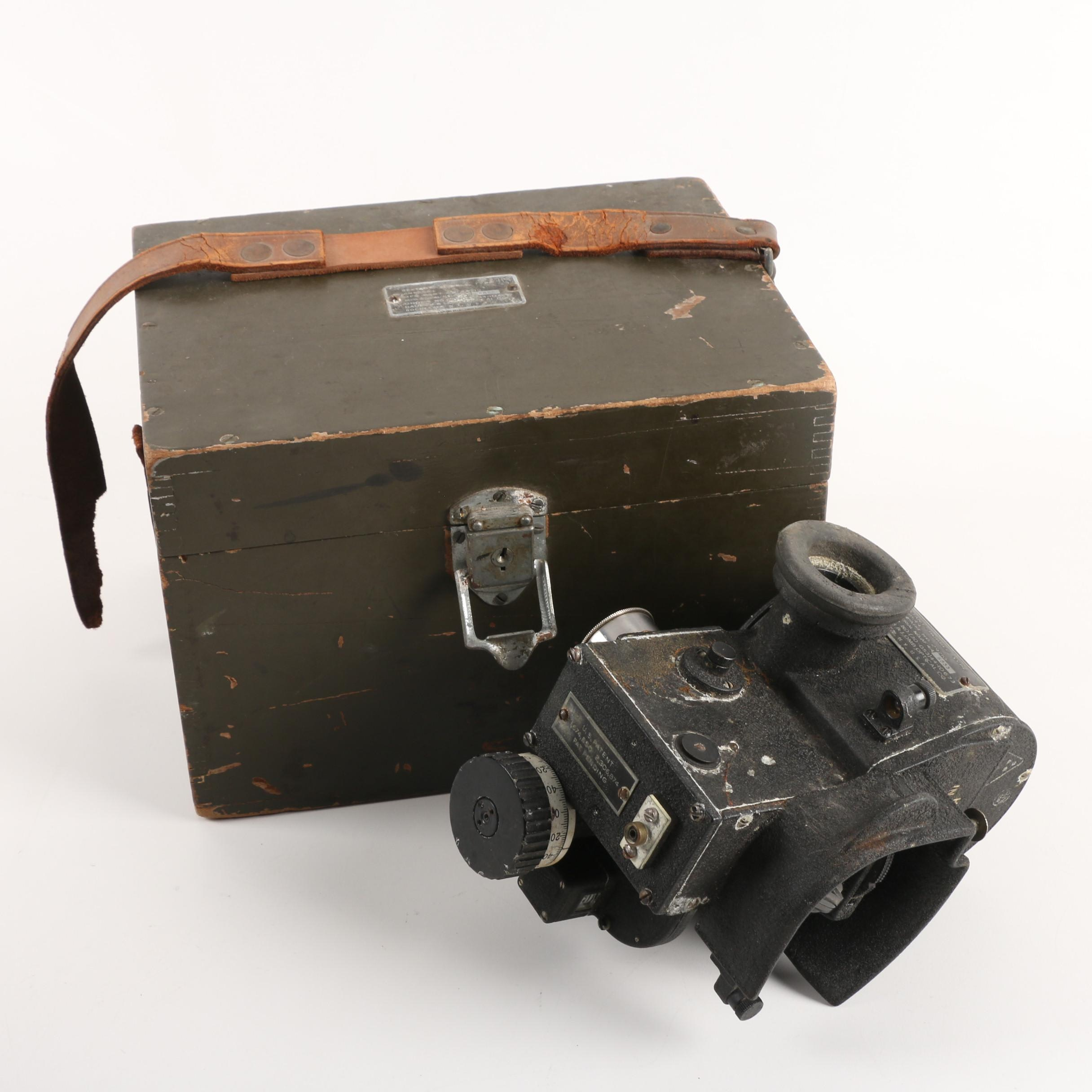 U.S. Navy Navigation Sextant Bubble Type AN 5854-1 with Case