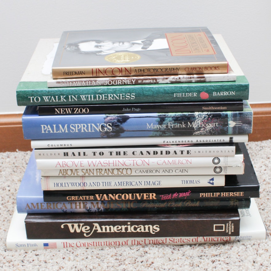 American History And Travel Coffee Table Books