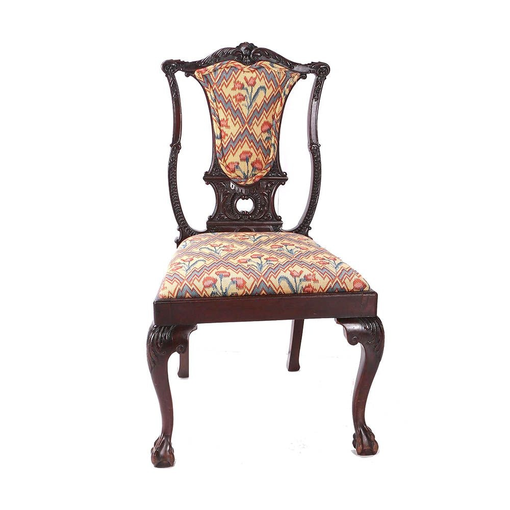 Antique Chippendale Style Mahogany Side Chair