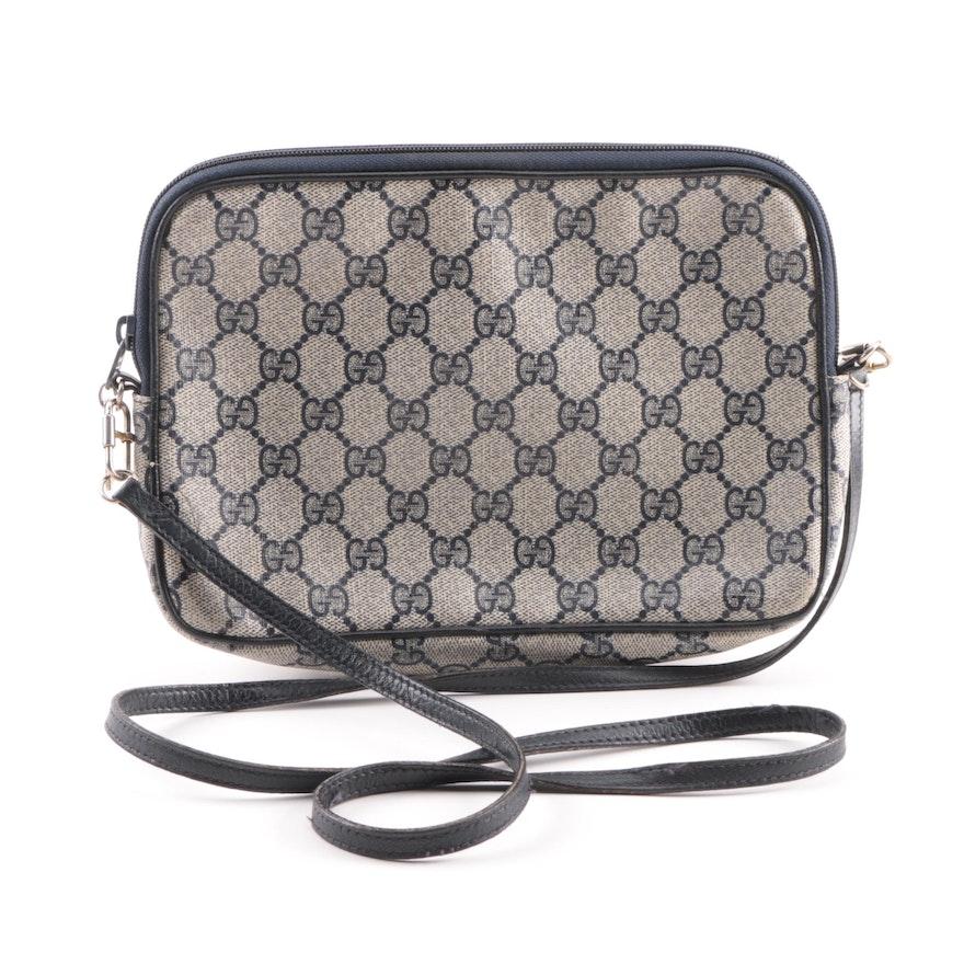 ec8c49a566b Vintage Gucci Supreme GG Canvas and Leather Shoulder Bag   EBTH