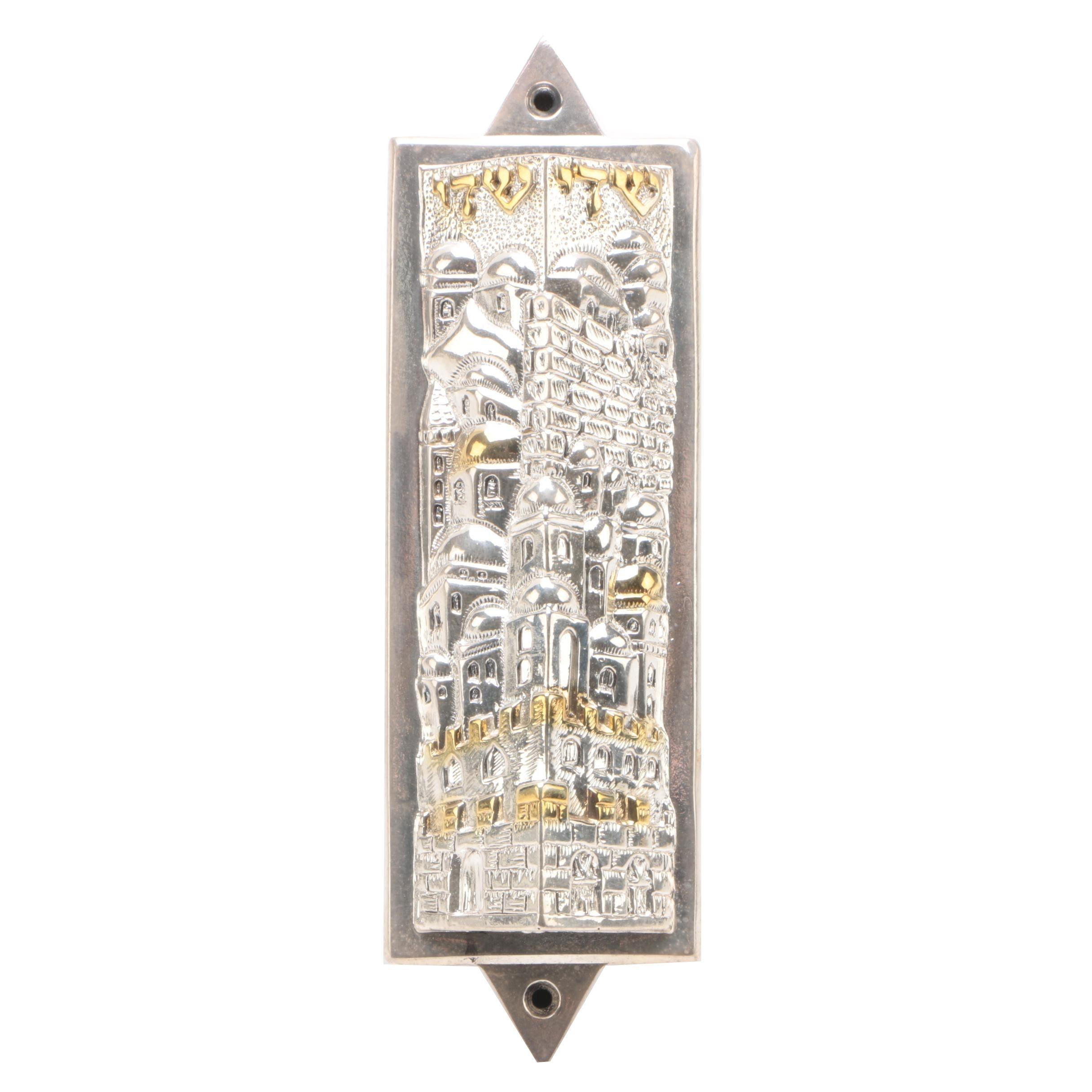 .925 Electroform Silver Mezuzah