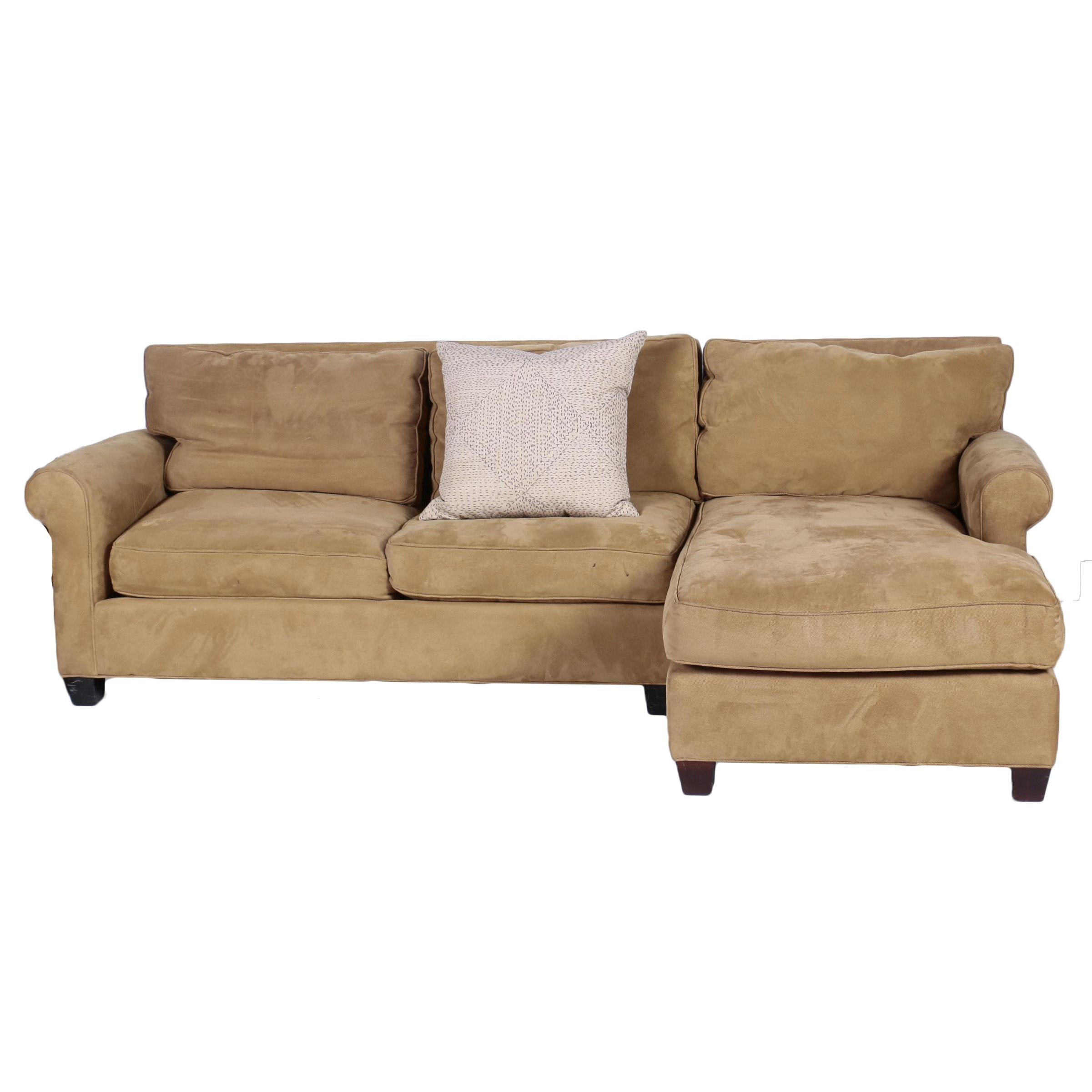 Brown Upholstered Right Sectional Sofa by McCreary Modern