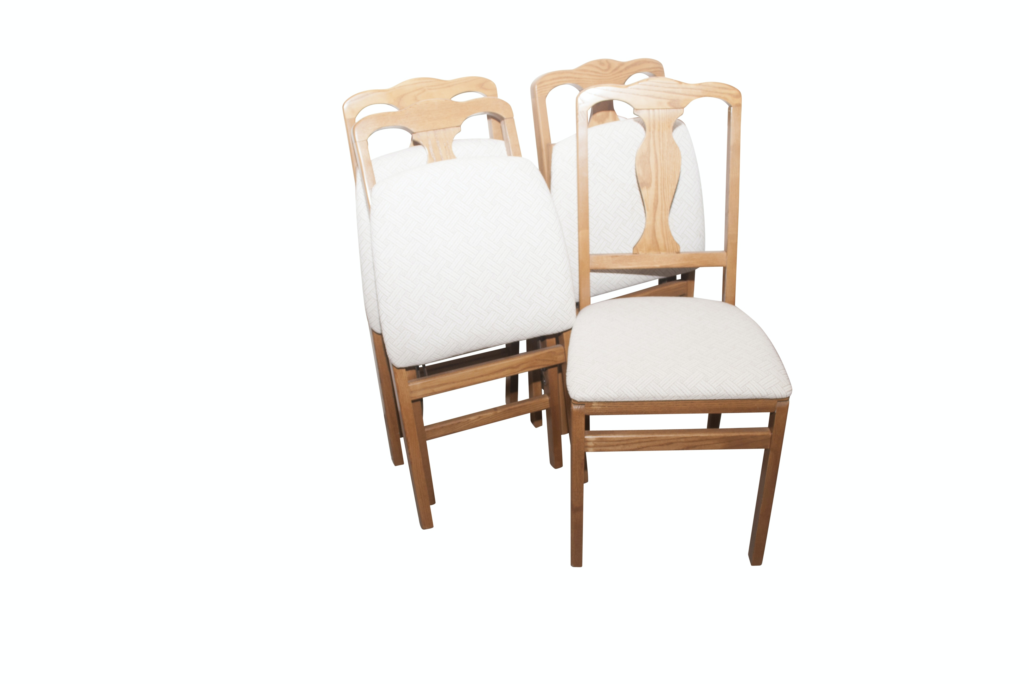 Wooden Folding Chairs Group