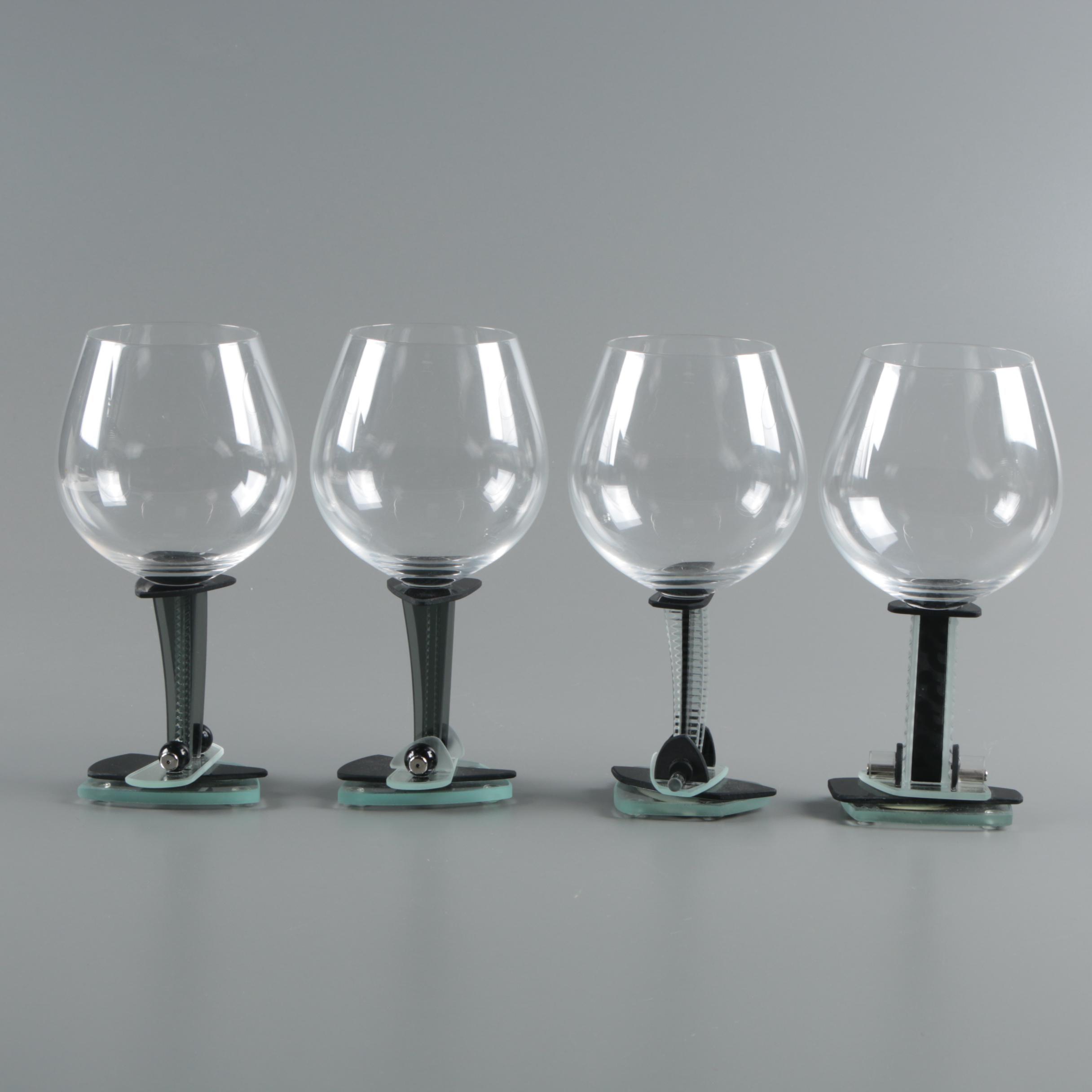 Ponzini Art Glass Red Wine Glasses