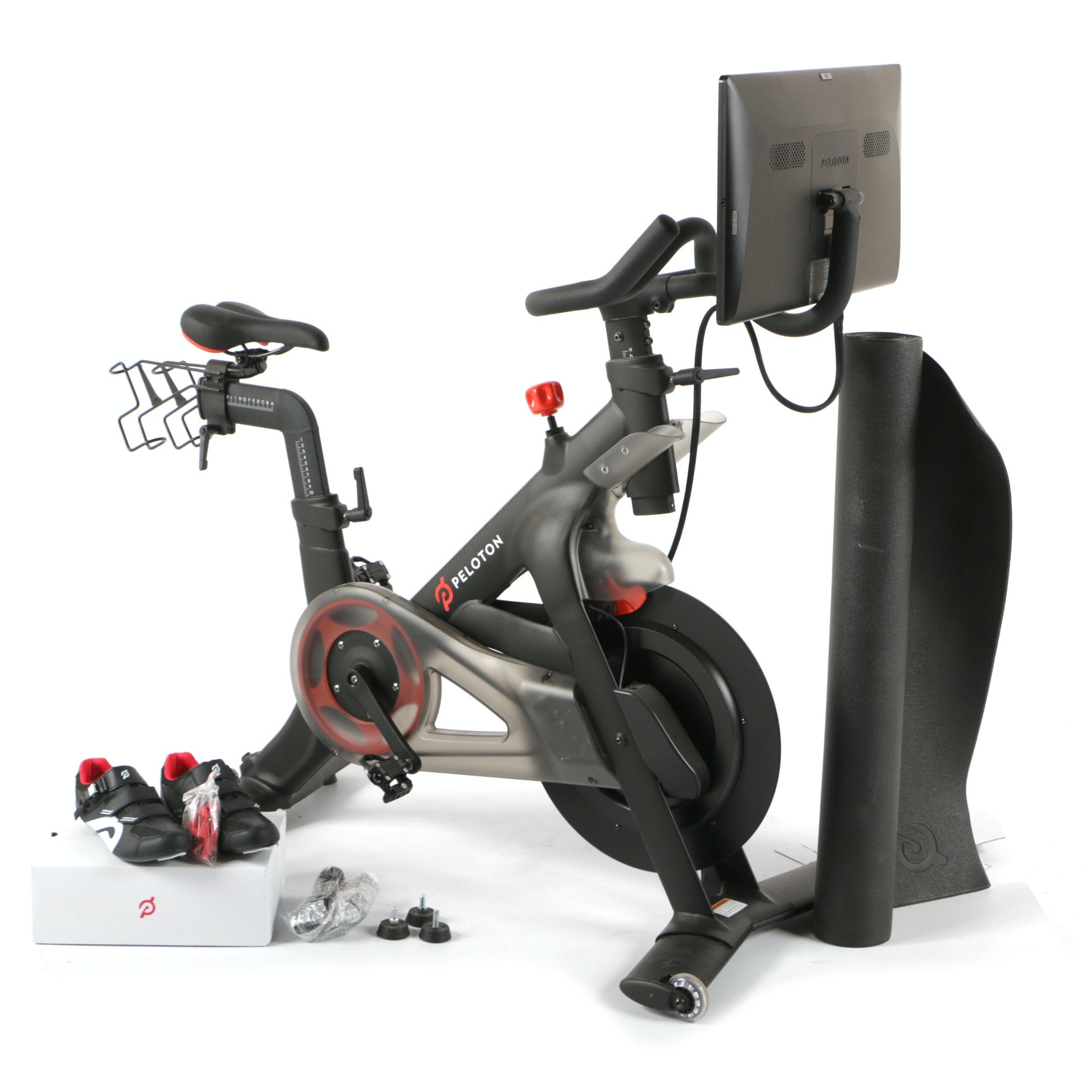 Peloton Indoor Exercise Bike and Accessories