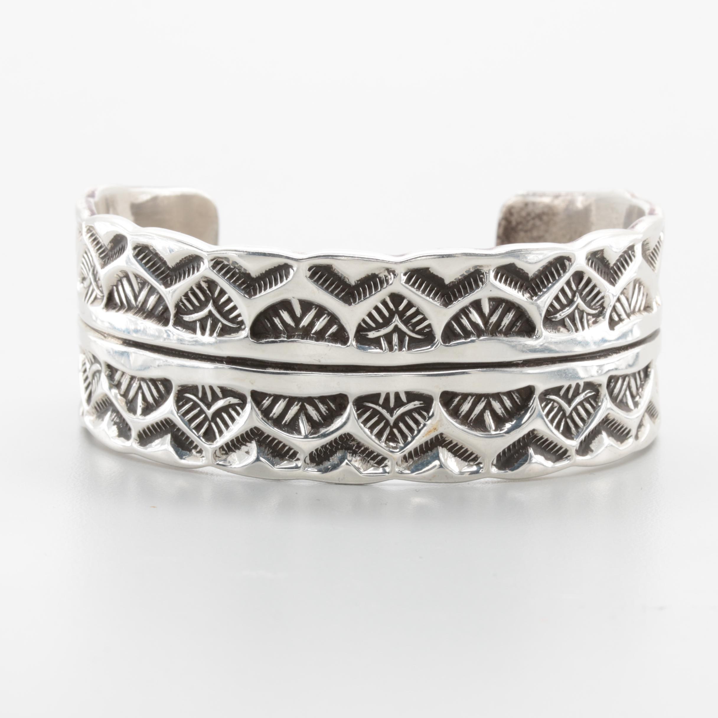 Chimney Butte with Sylvia Nuguematz Sterling Silver Cuff Bracelet