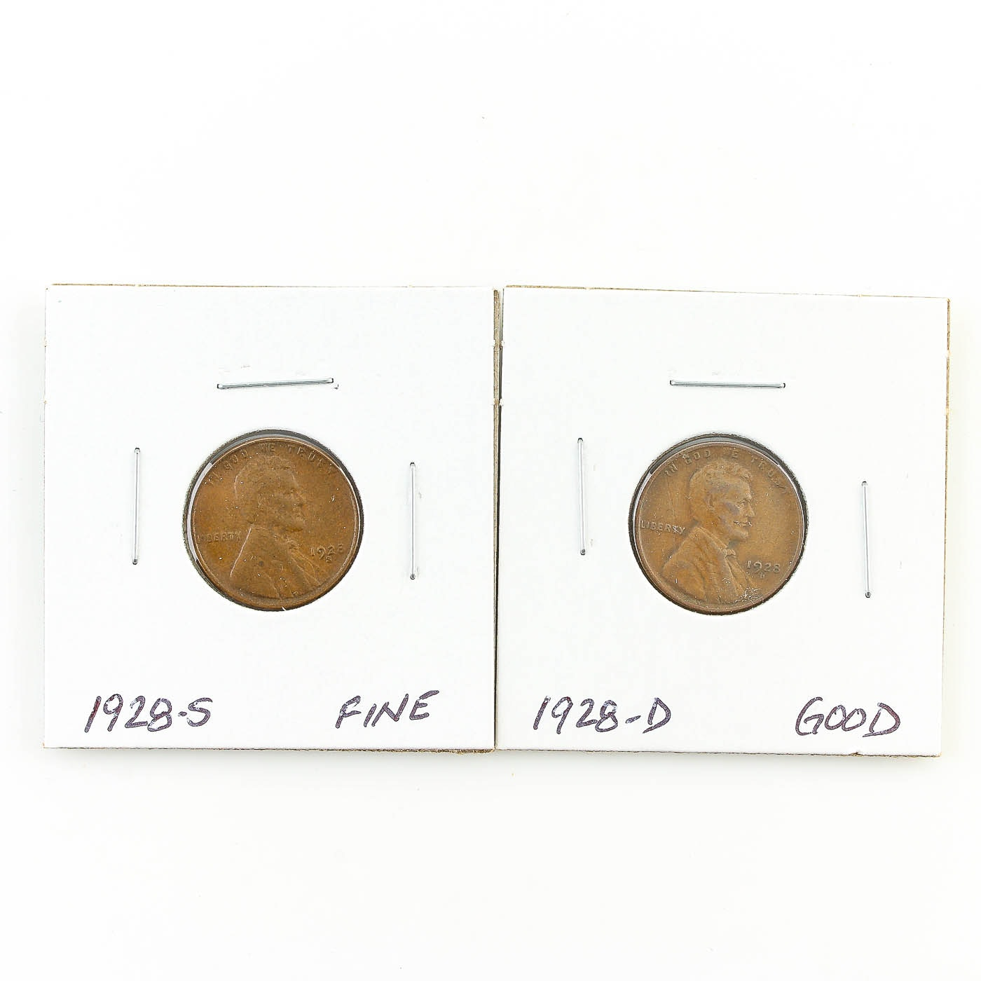 1928-D and 1928-S Lincoln Wheat Ear Cents