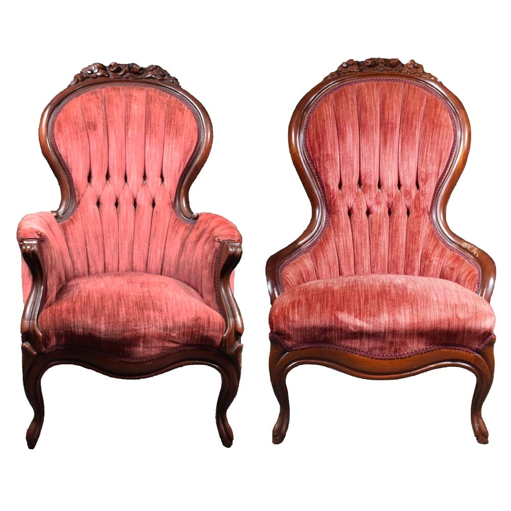 Pair of Victorian Style Parlor Chairs